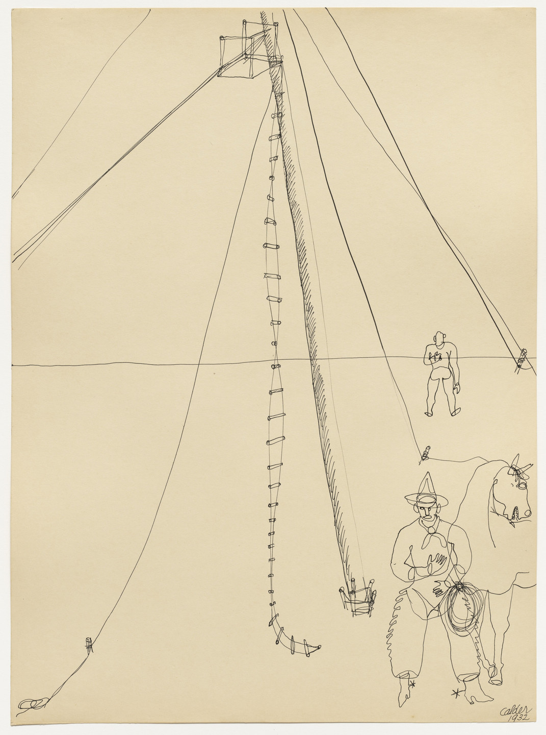 Alexander Calder. Cowboy and Rope Ladder. 1932