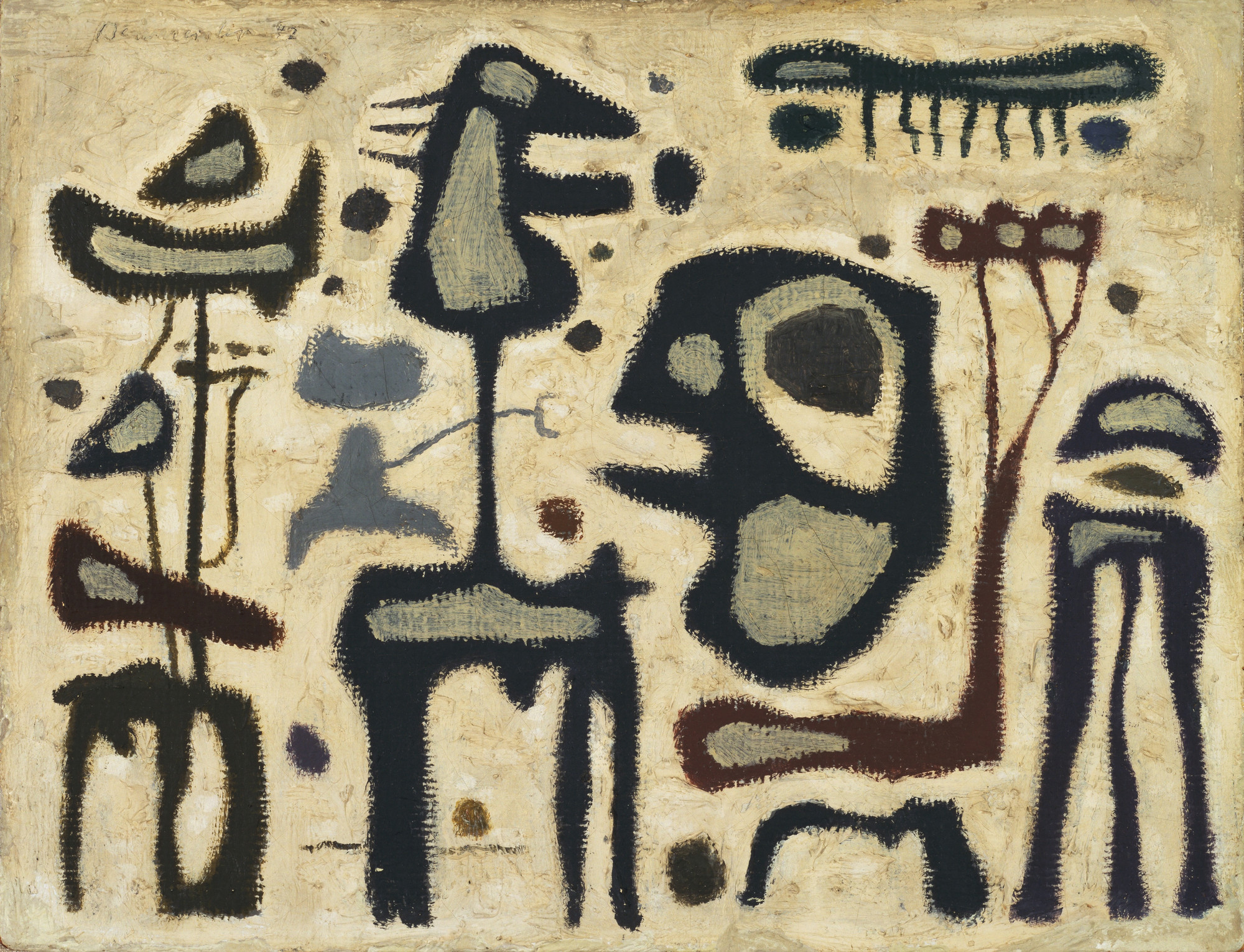 Willi Baumeister. African Play, IV. 1942