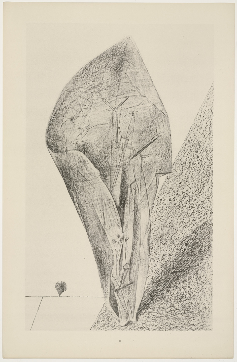 Max Ernst. She Guards Her Secret (Elle garde son secret) from Natural History (Histoire naturelle). c. 1925, published 1926