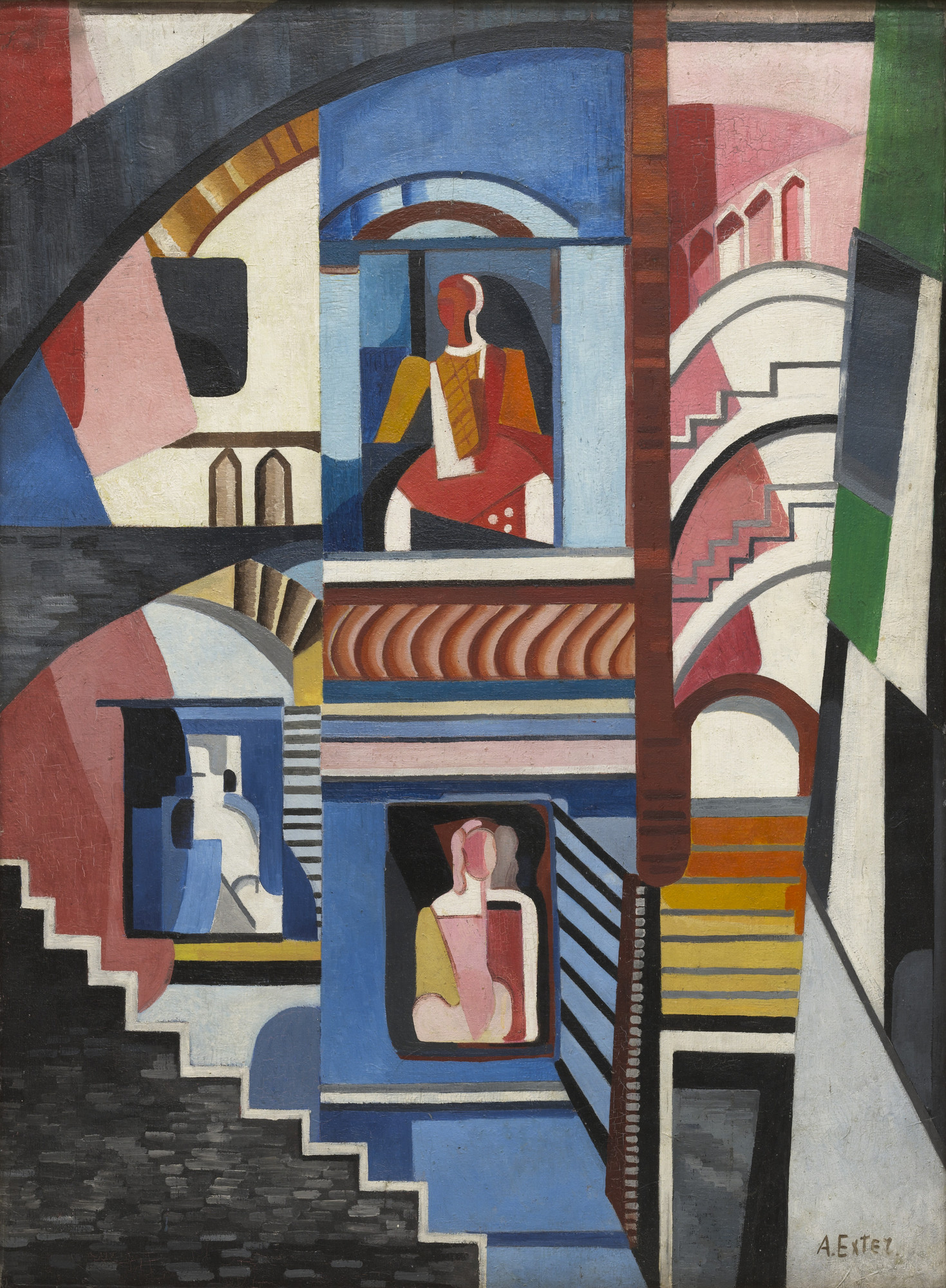Alexandra Exter. Theatrical Composition. c. 1925