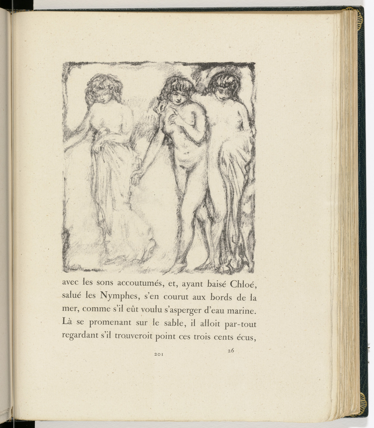 Pierre Bonnard. In-text plate (page 201) from Daphnis et Chloé. 1902