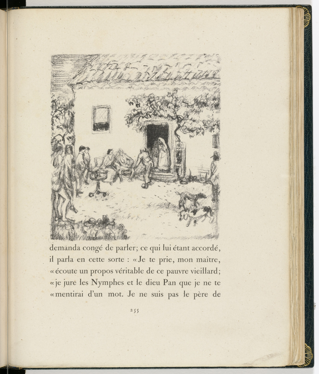 Pierre Bonnard. In-text plate (page 255) from Daphnis et Chloé. 1902