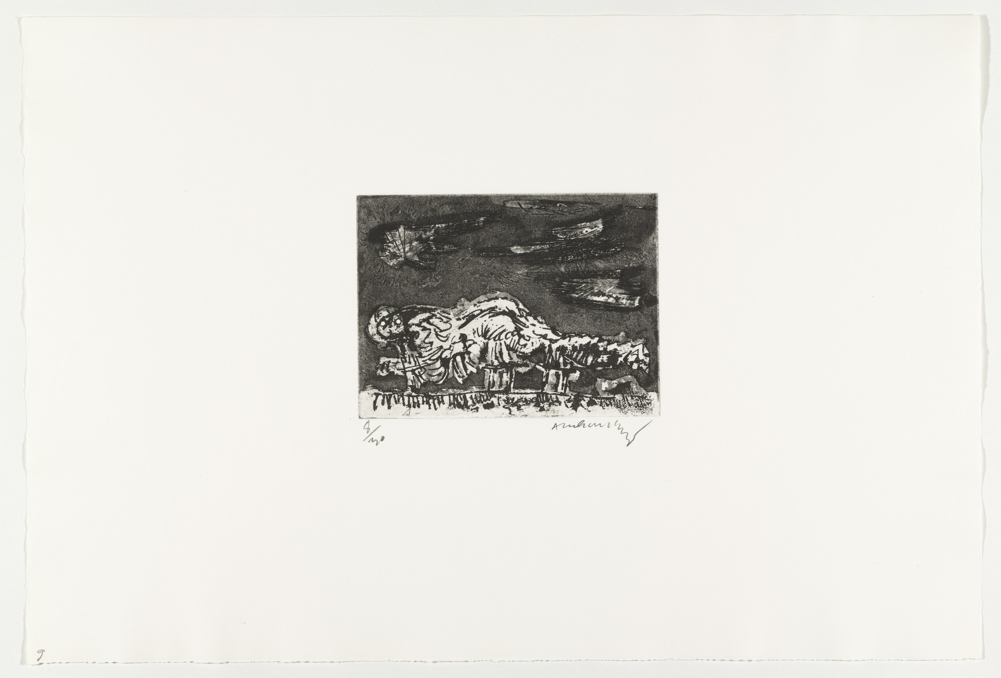 Pierre Alechinsky. Mountain-Dragon (Montagne-Dragon) from Hayterophilies. 1968 (plate executed 1953)