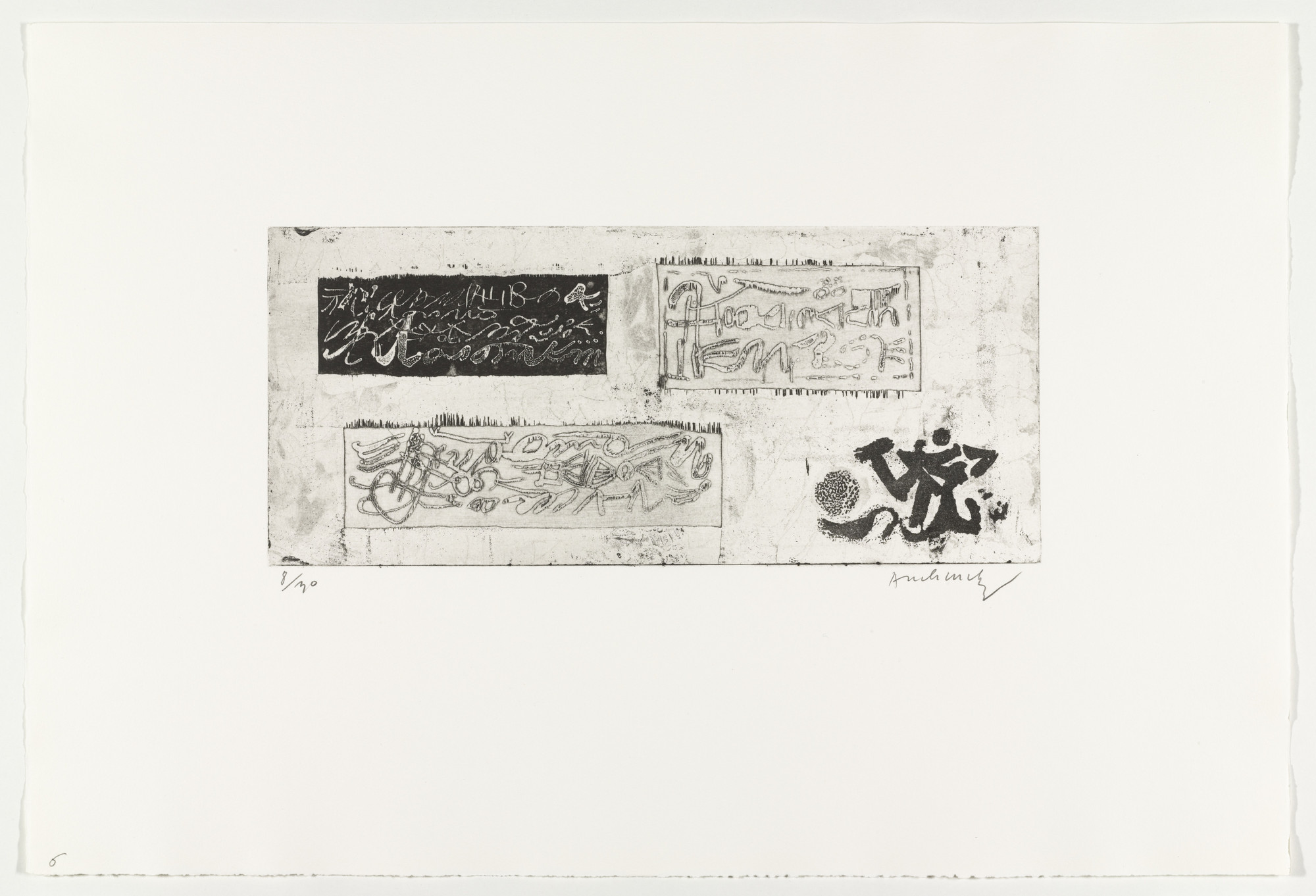 Pierre Alechinsky. Writings (Écritures) from Hayterophilies. 1968 (plate executed 1952)