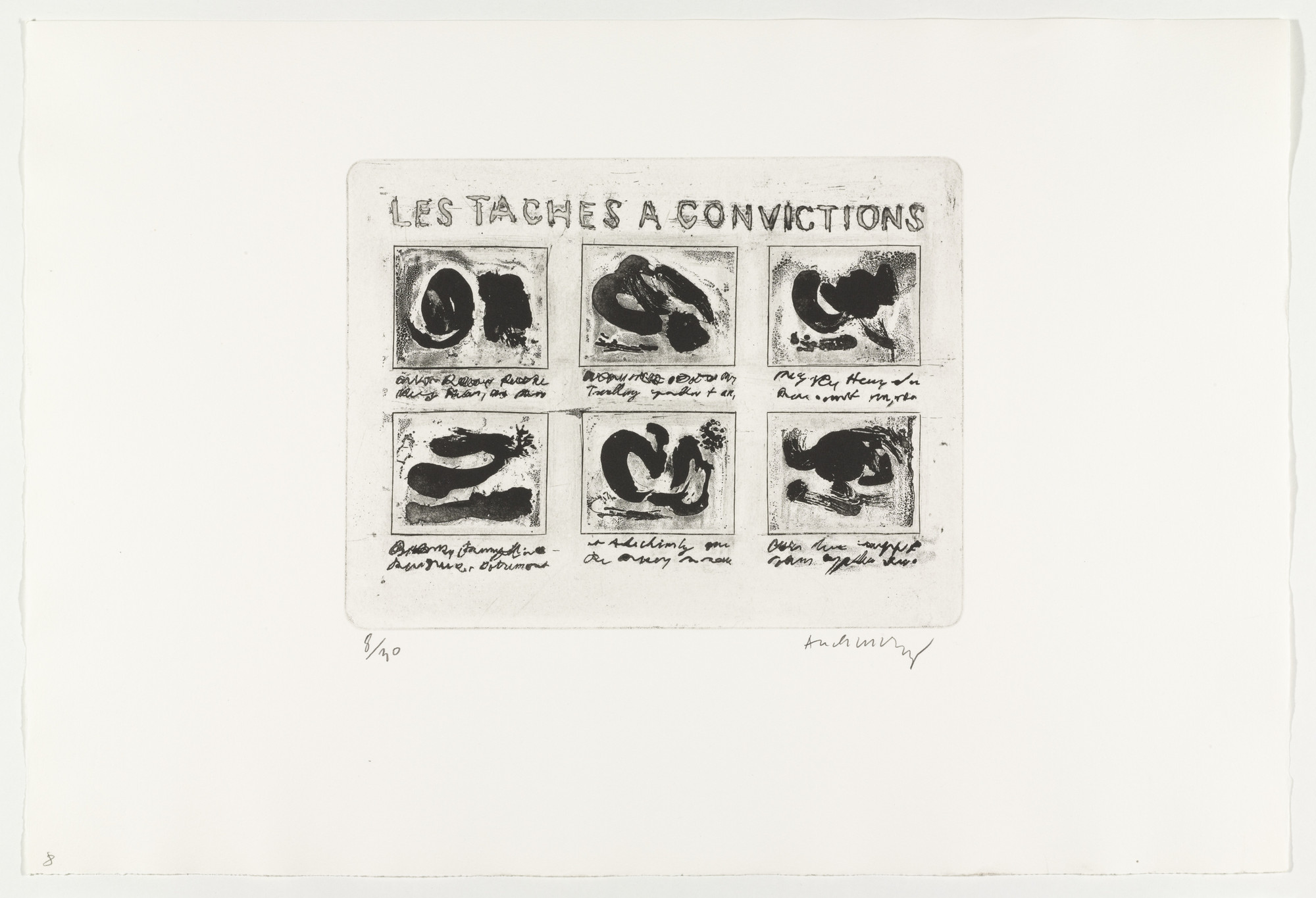 Pierre Alechinsky. Stains of Evidence (Les taches à convictions) from Hayterophilies. 1968 (plate executed 1953)