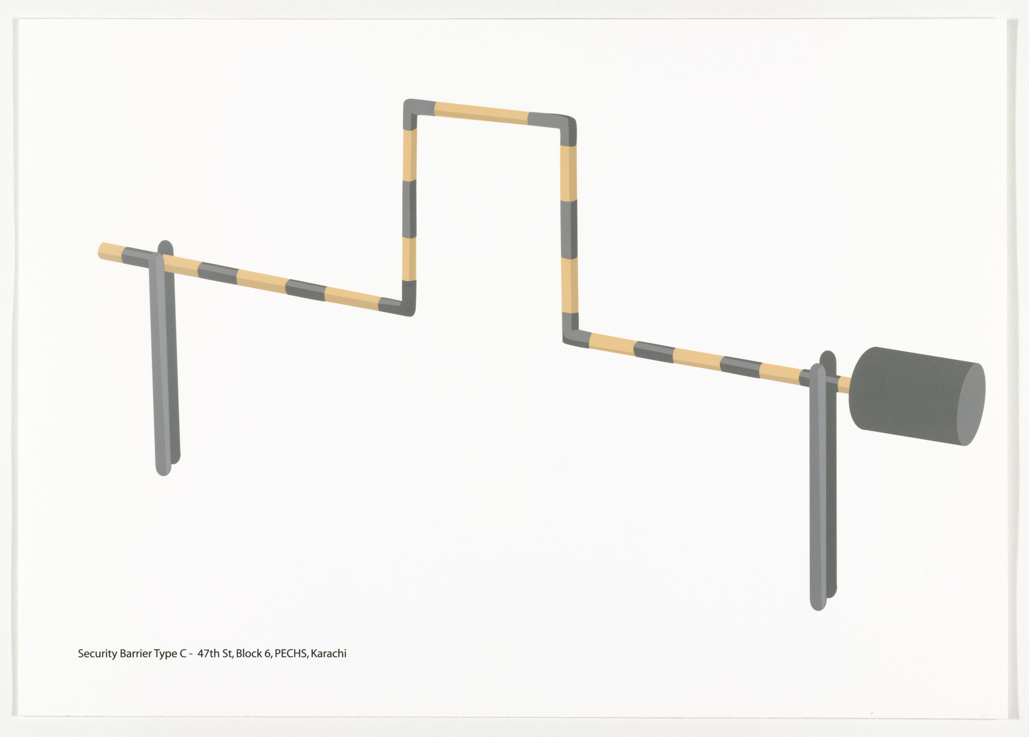 Bani Abidi. Security Barrier Type C from Security Barriers A-L. 2008