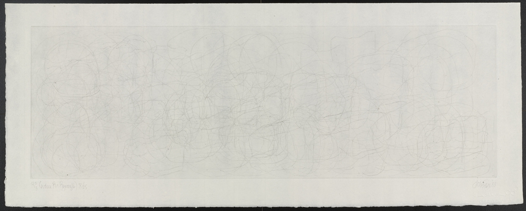 John Cage. R(superscript 2, subscript 3) from the series Where R=Ryoanji. 1983