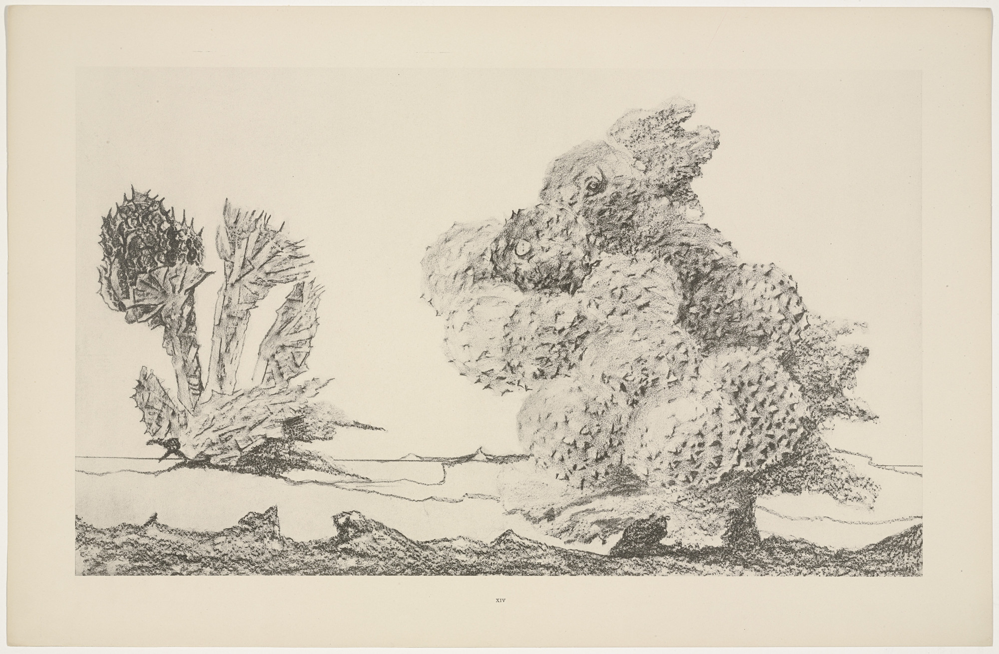 Max Ernst. The Chestnut Trees Take-Off (Le Start du châtaignier) from Natural History (Histoire naturelle). c. 1925, published 1926