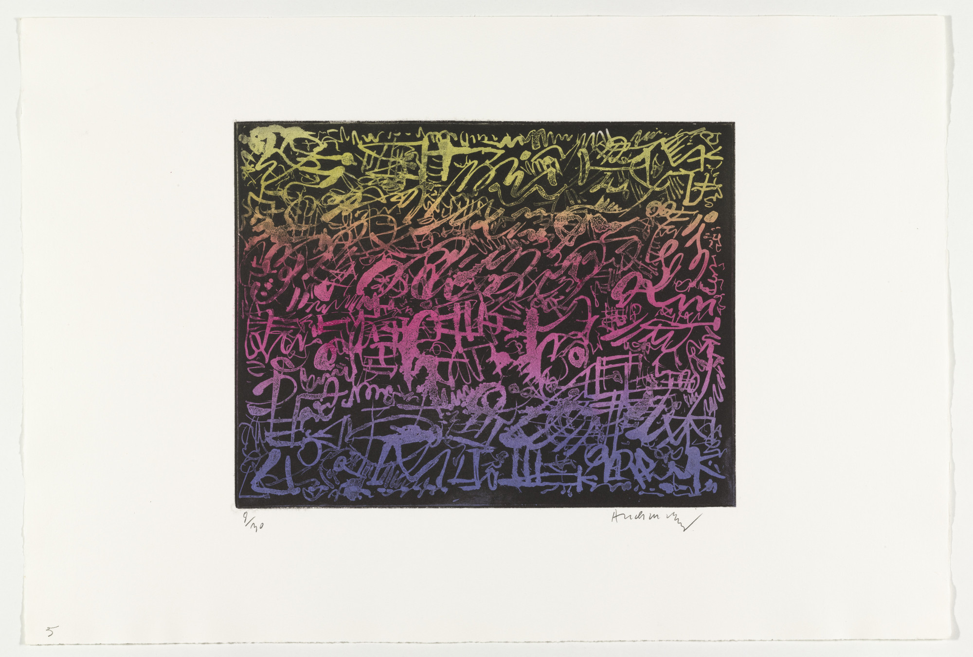 Pierre Alechinsky. Night (La nuit) from Hayterophilies. 1968 (plate executed 1952)