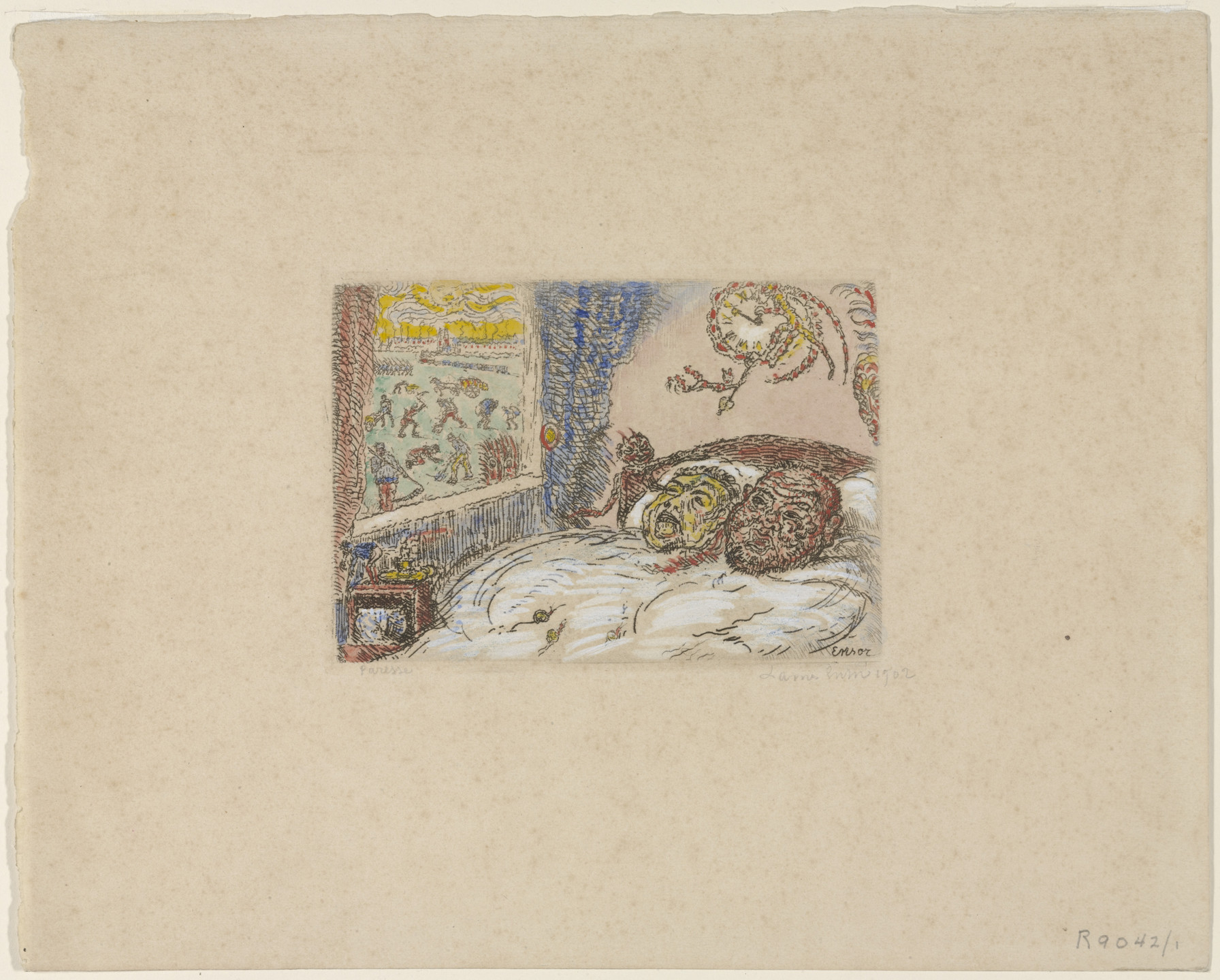 James Ensor. Sloth (La Paresse). 1902