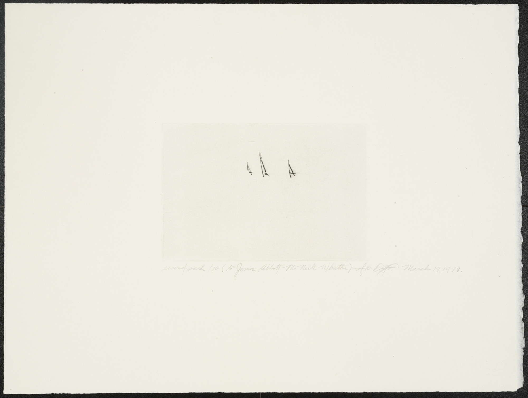 Dan Flavin. Second Sails 10 from Second Sails (To James Abbott McNeill Whistler). 1978