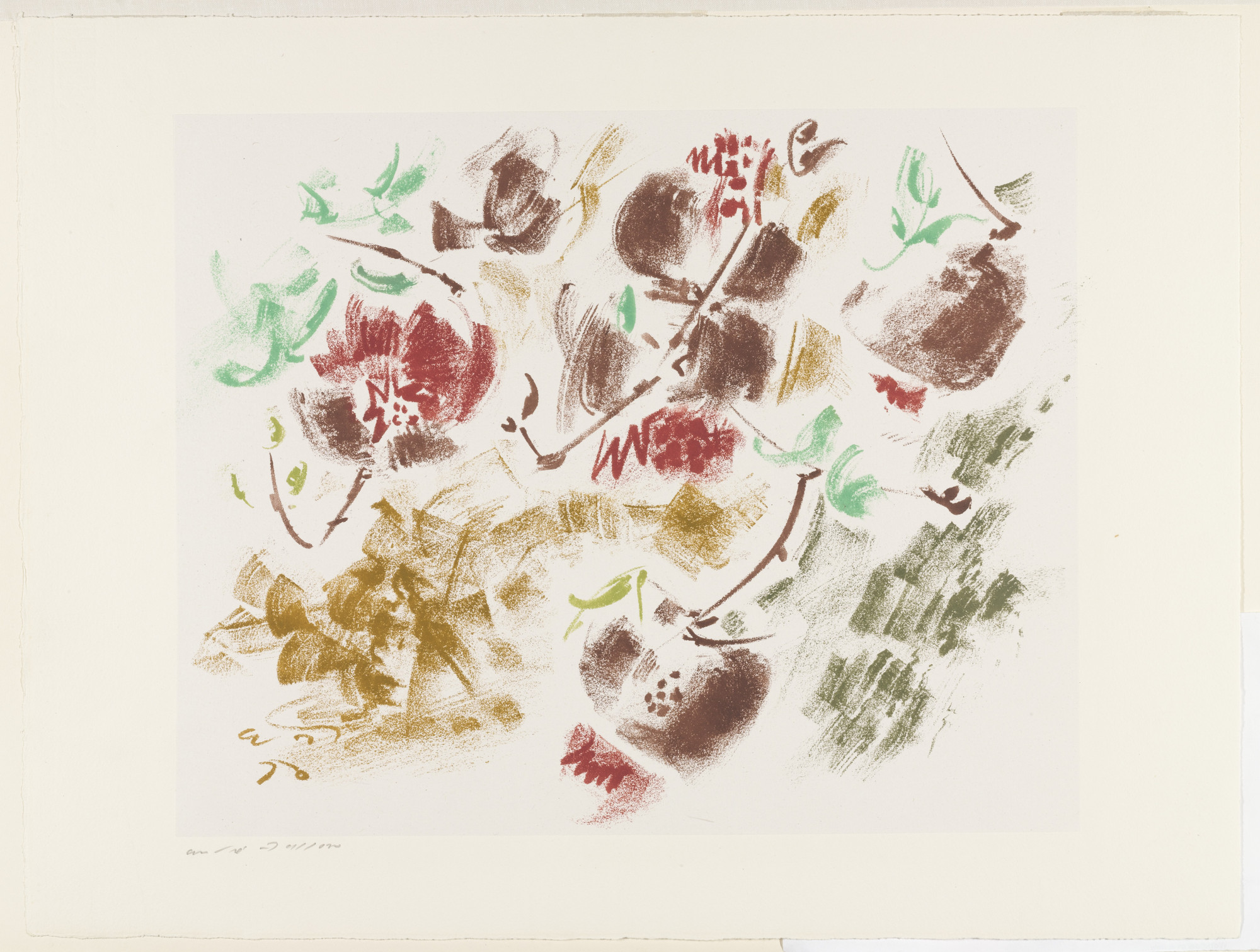 André Masson. Pomegranates in the Wind. 1951