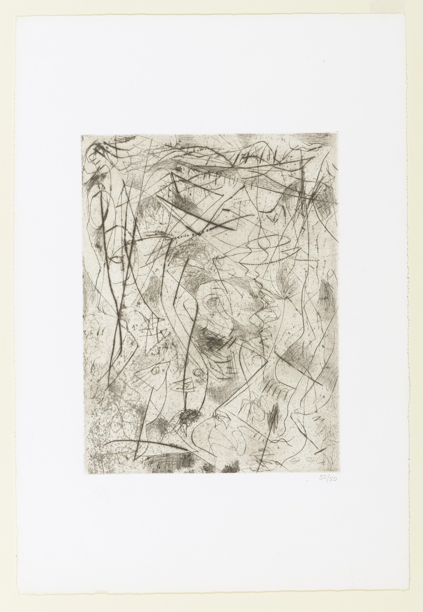 Jackson Pollock. Untitled (6). c. 1944–45, printed in 1967