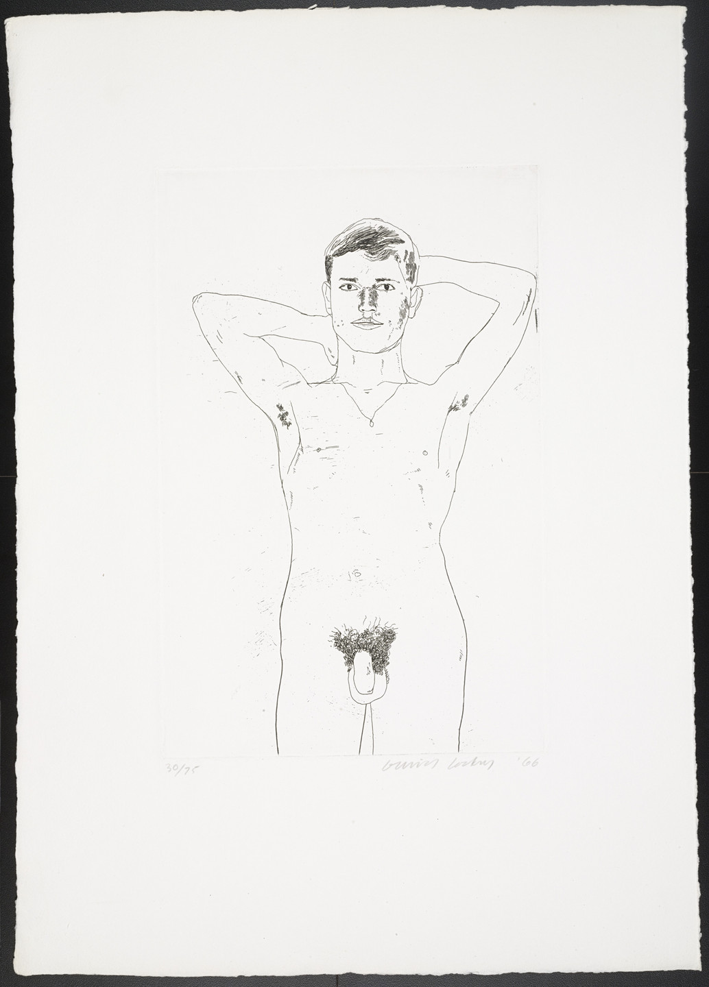 David Hockney. In an Old Book from Fourteen Poems. 1966, published 1967