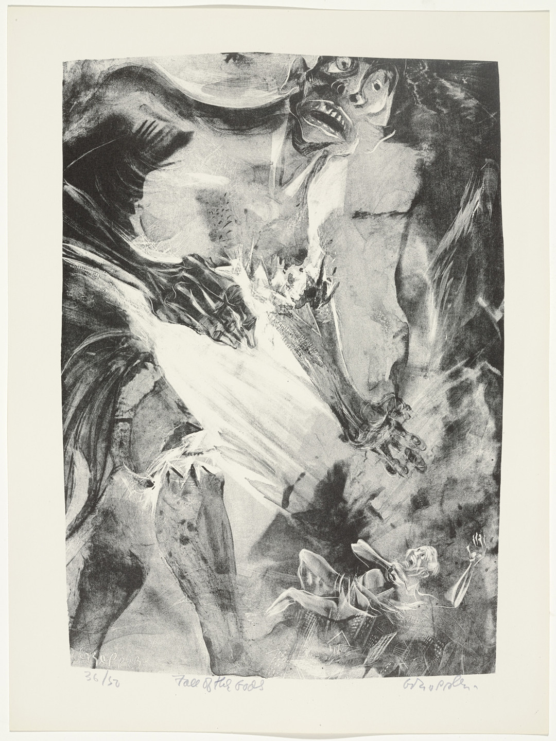 William Gropper. Fall of the Gods from Capriccios. 1953–57