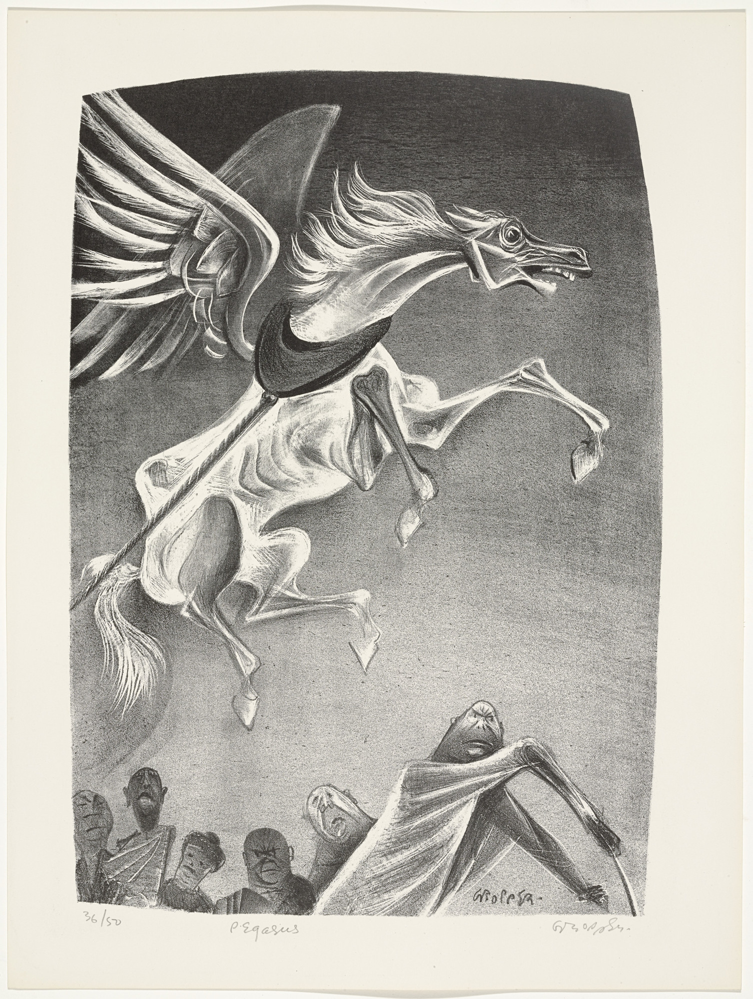 William Gropper. Pegasus from Capriccios. 1953–57