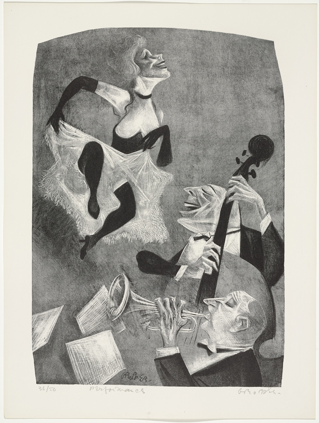 William Gropper. Performance from Capriccios. 1953–57