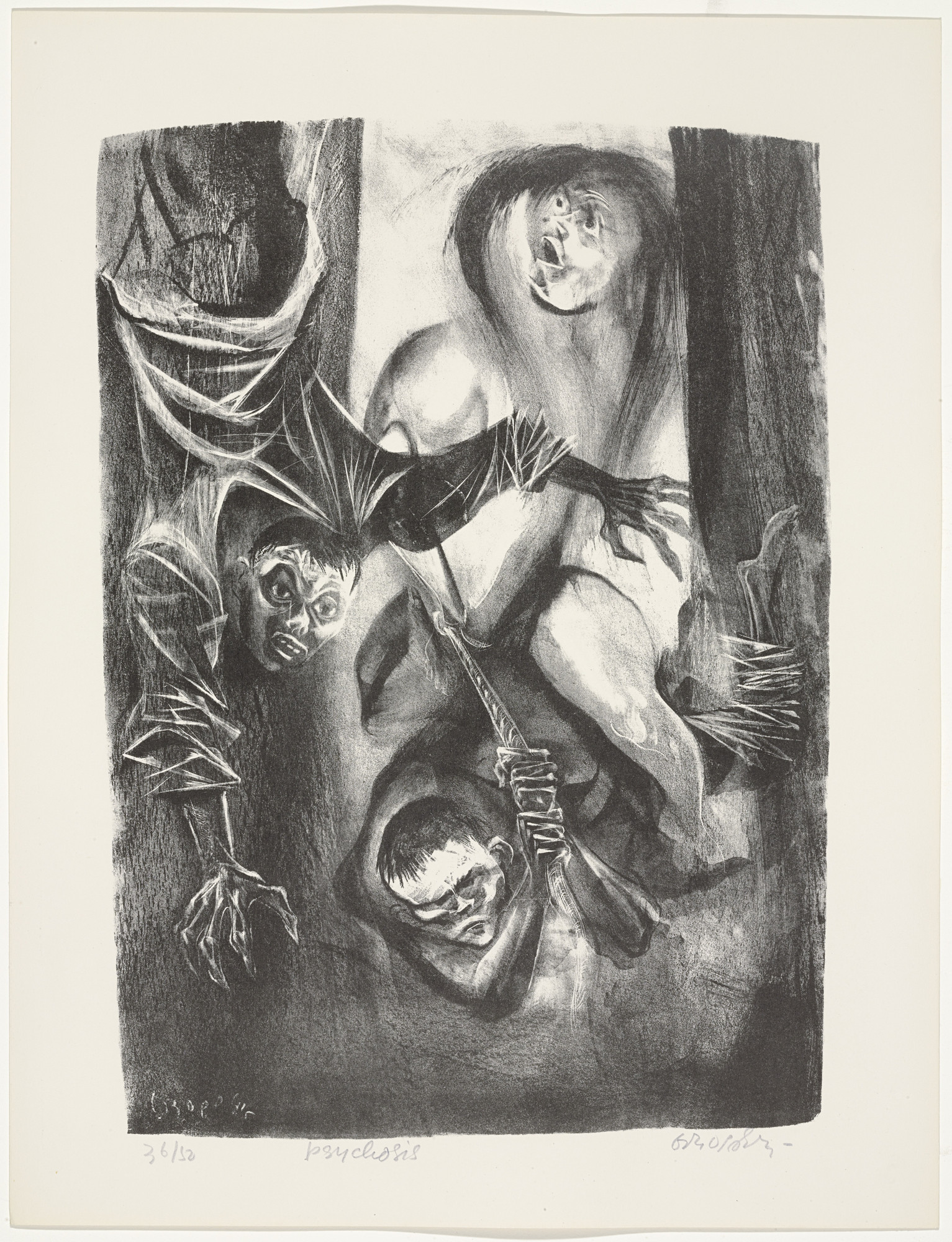William Gropper. Psychosis from Capriccios. 1953–57