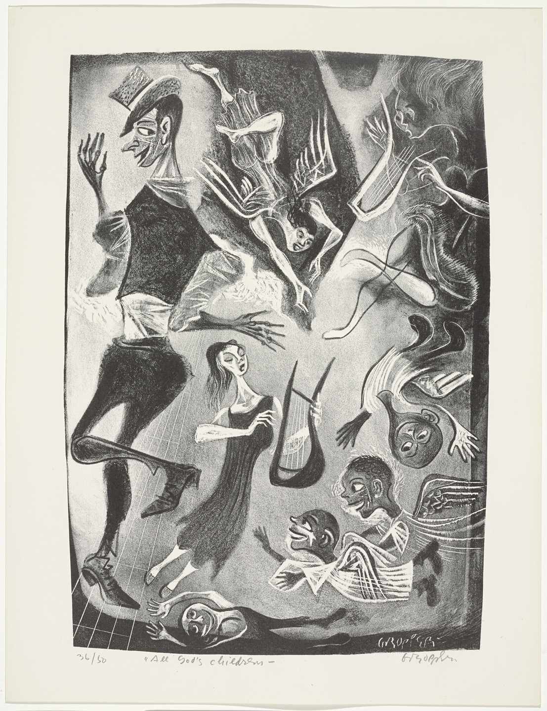 William Gropper. All God's Children from Capriccios. 1953–57
