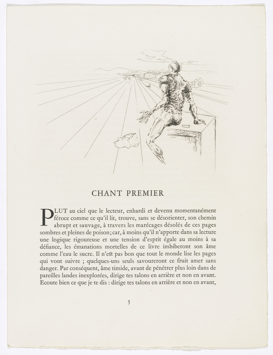Salvador Dalí. Headpiece (page 5) from Les Chants de Maldoror (The Songs of Maldoror). 1934