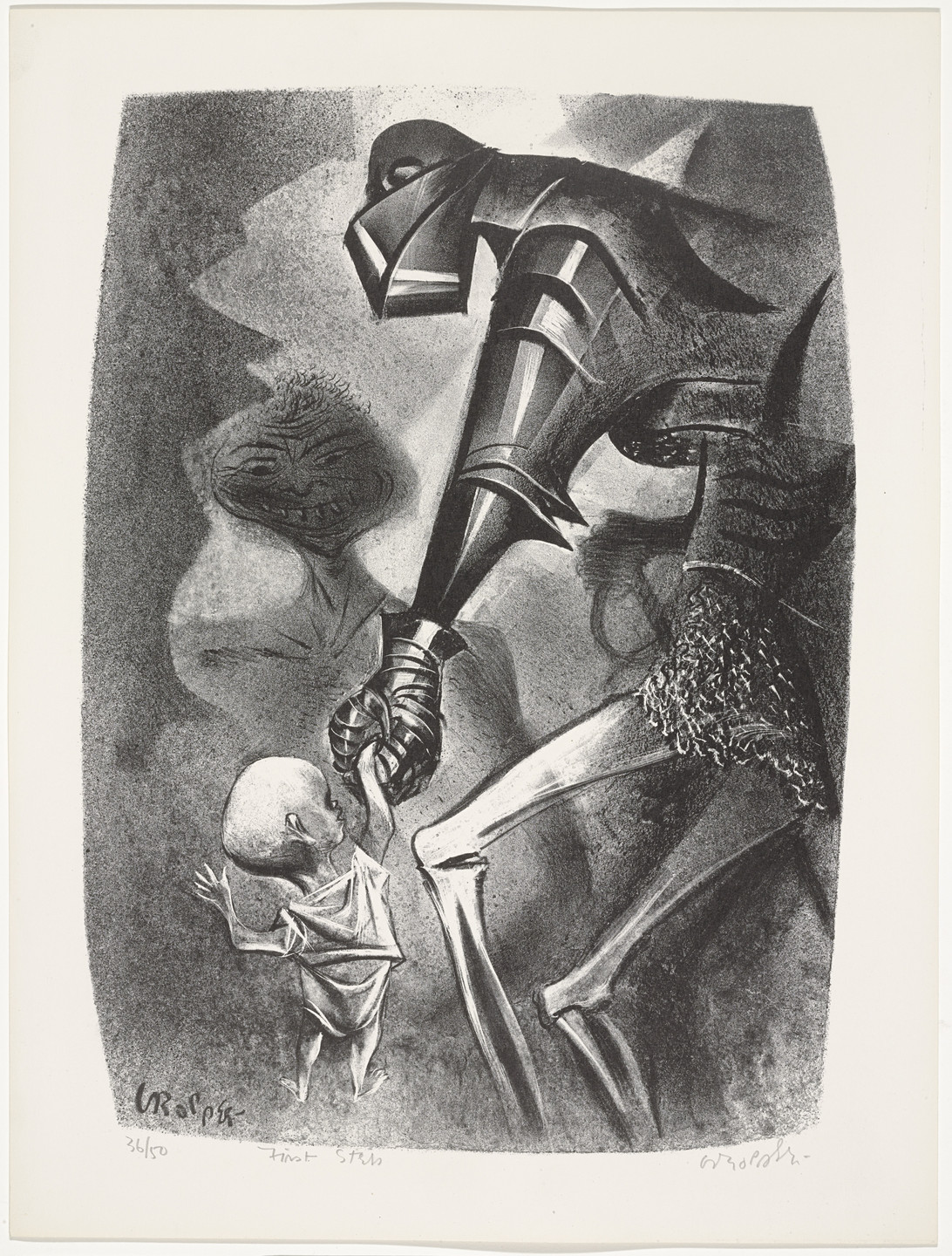 William Gropper. First Step from Capriccios. 1953–57