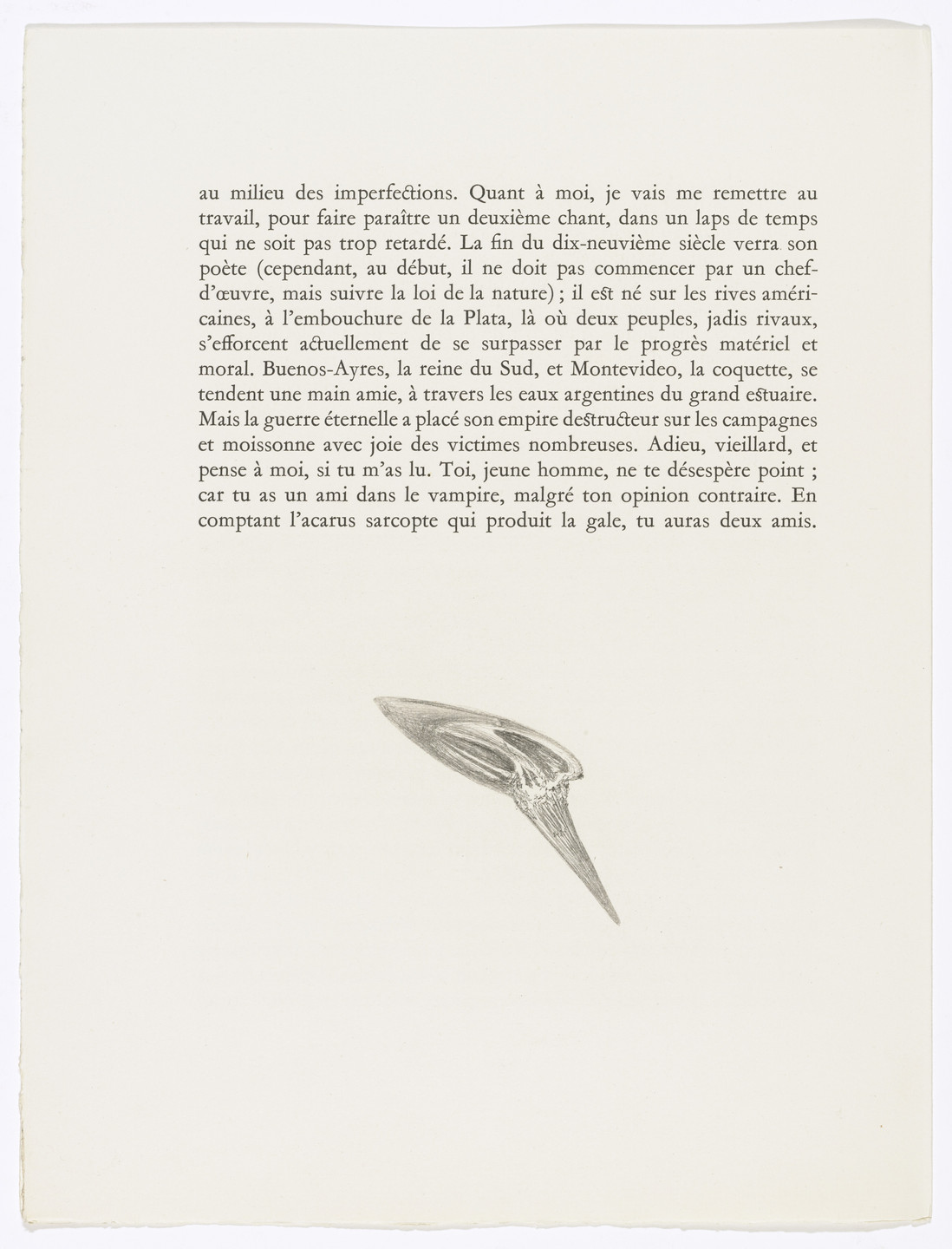 Salvador Dalí. Tailpiece (page 36) from Les Chants de Maldoror (The Songs of Maldoror). 1934