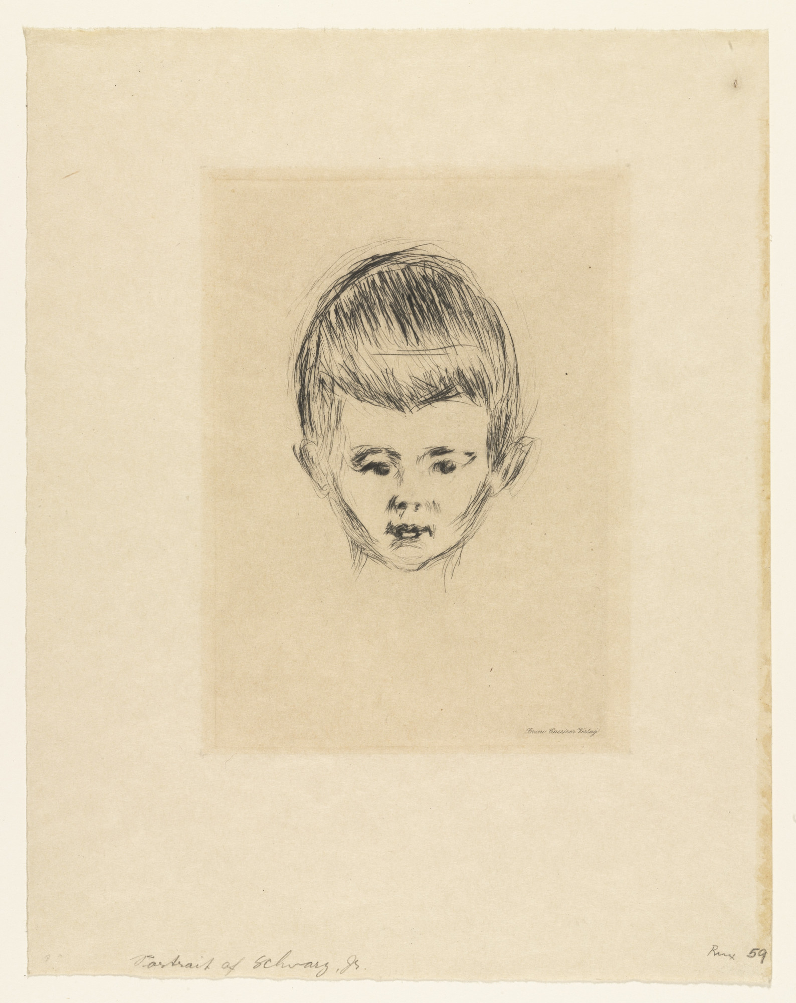Edvard Munch. Portrait of Andreas Schwarz. 1906, published 1922
