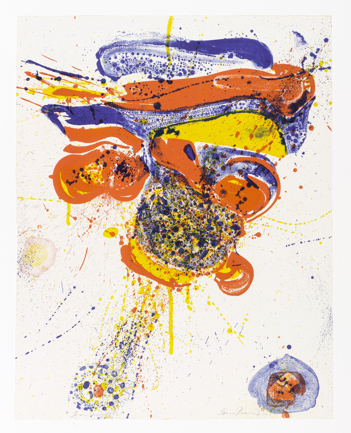 Sam Francis. Flying Love. 1963
