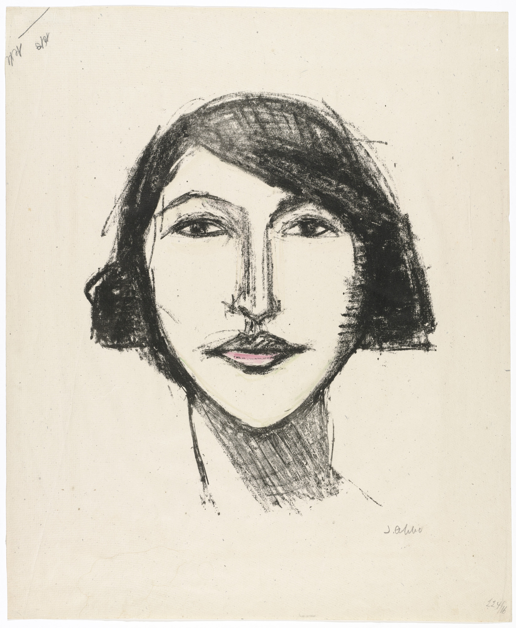 Jussuf Abbo. Head of a Girl, Full Face (Mädchenkopf, en face). unknown