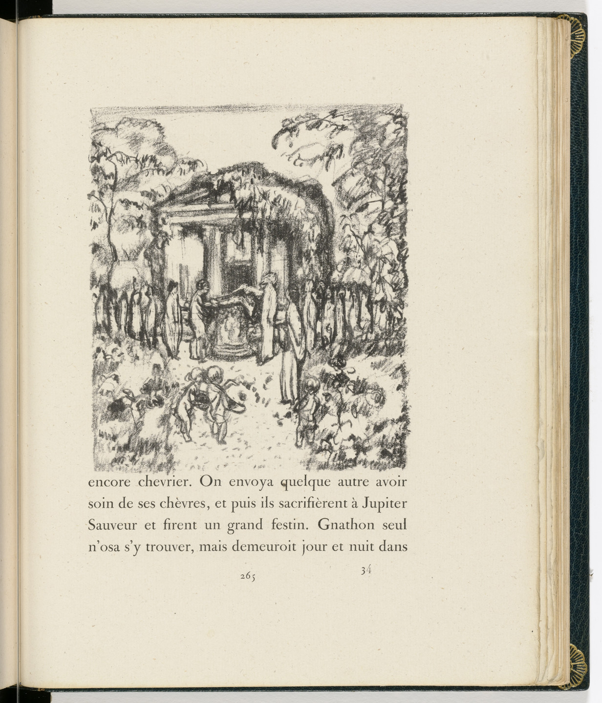 Pierre Bonnard. In-text plate (page 265) from Daphnis et Chloé. 1902