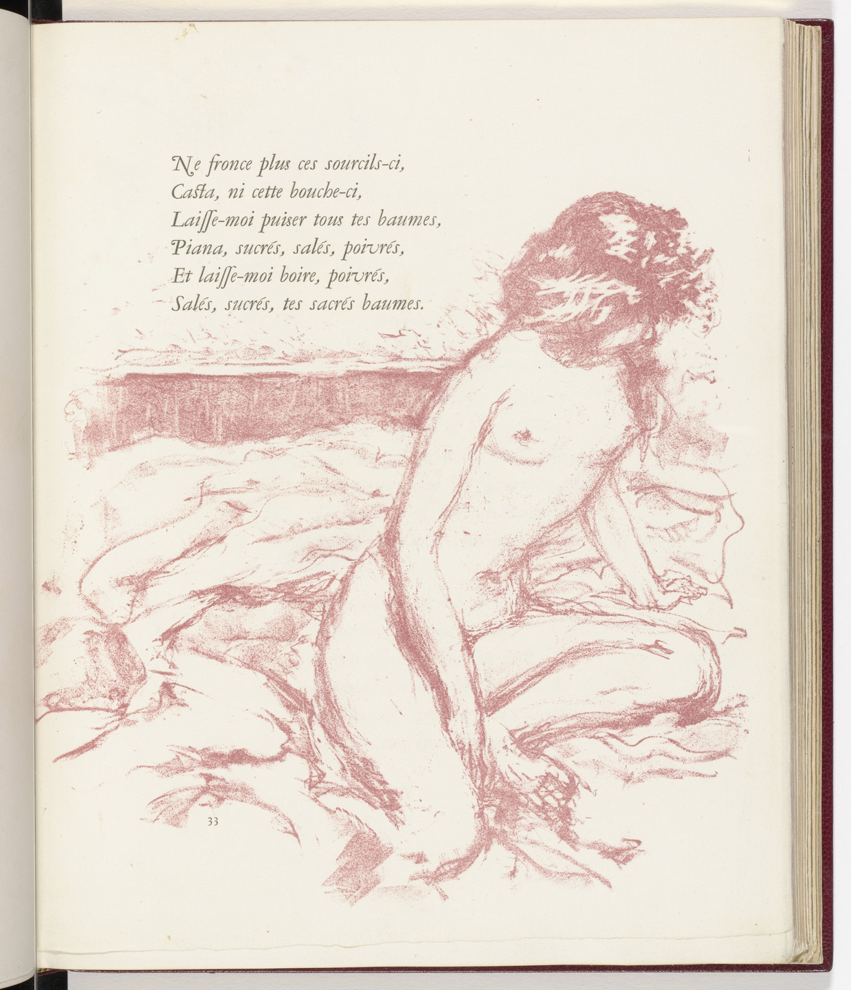 Pierre Bonnard. In-text plate (page 33) from Parallèlement (In Parallel). 1900