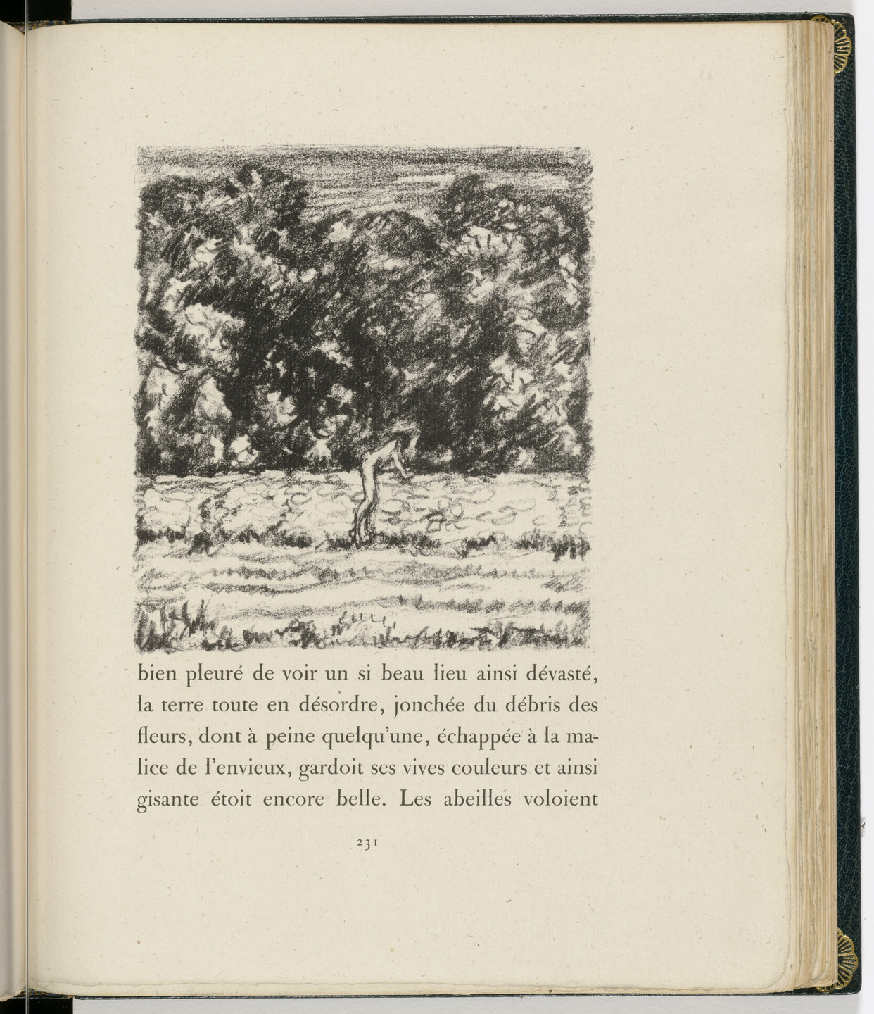 Pierre Bonnard. In-text plate (page 231) from Daphnis et Chloé. 1902