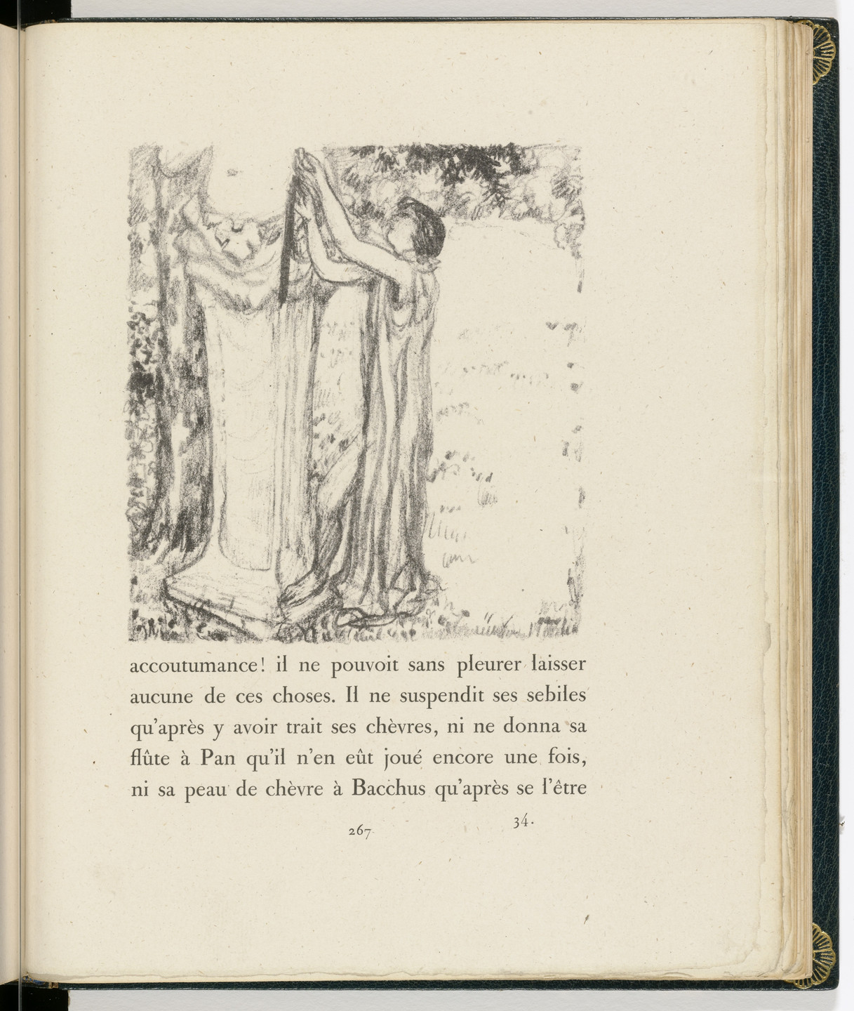 Pierre Bonnard. In-text plate (page 267) from Daphnis et Chloé. 1902