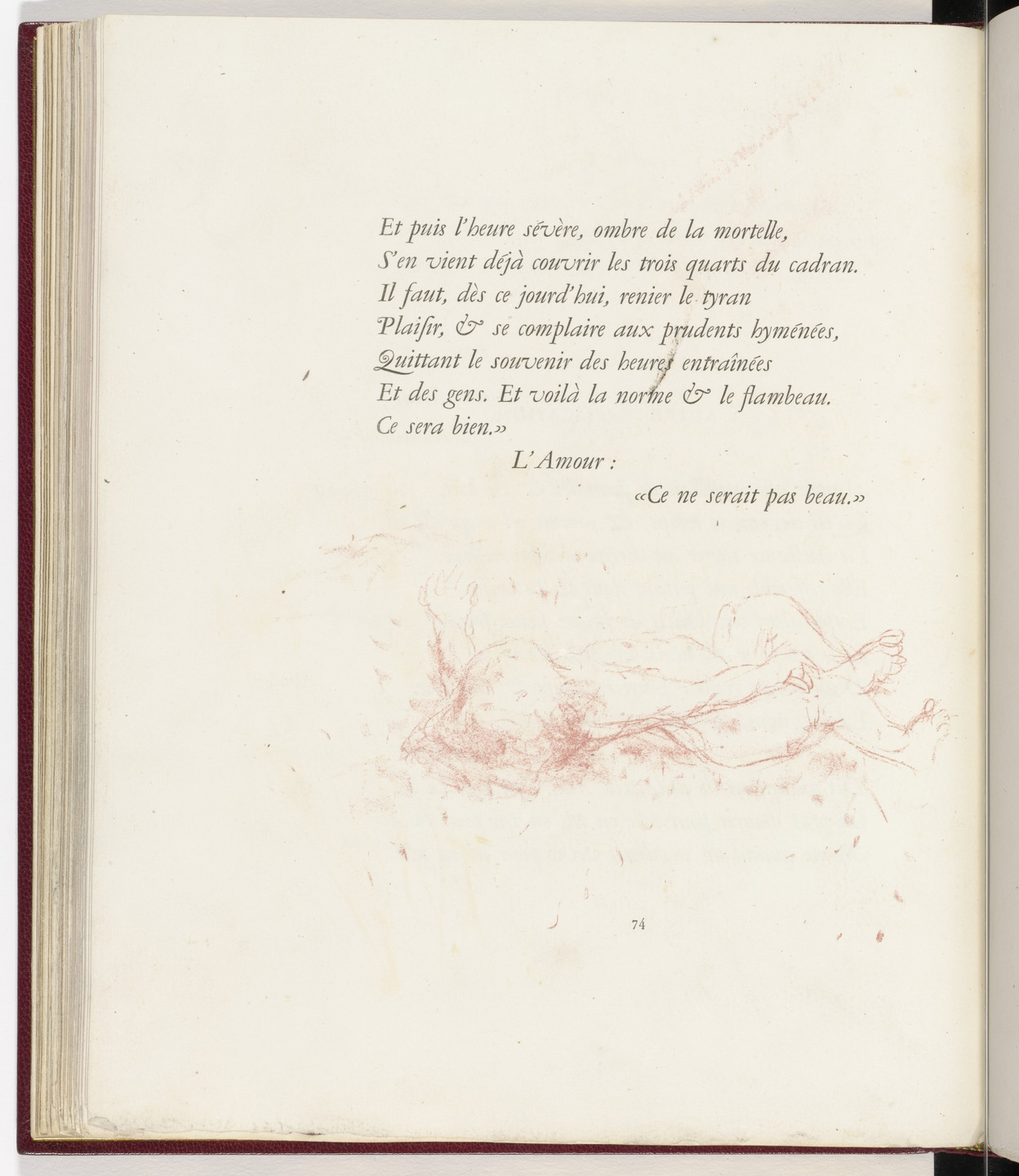 Pierre Bonnard. In-text plate (page 74) from Parallèlement (In Parallel). 1900