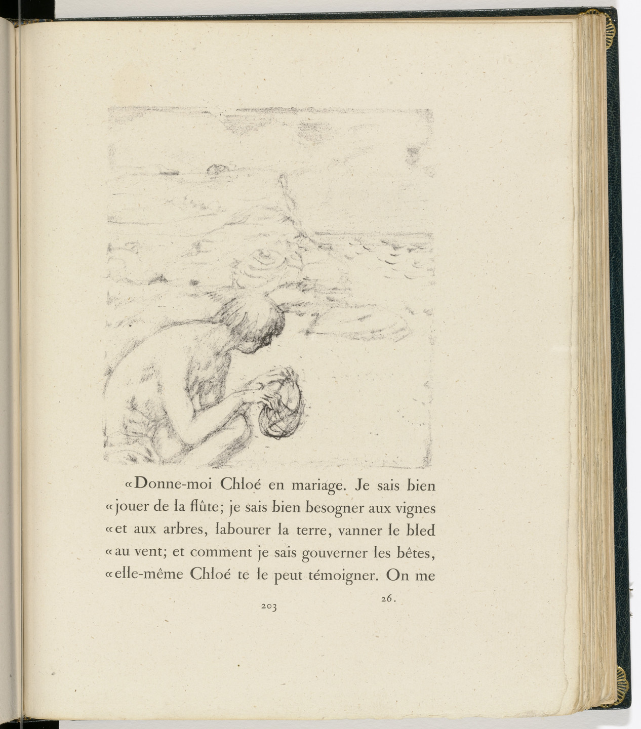 Pierre Bonnard. In-text plate (page 203) from Daphnis et Chloé. 1902