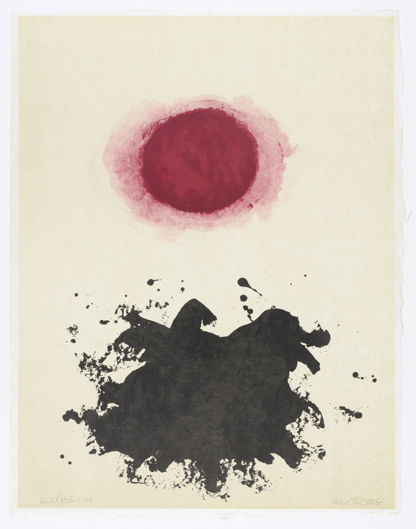 Adolph Gottlieb. Untitled from Flight. 1969, published 1971