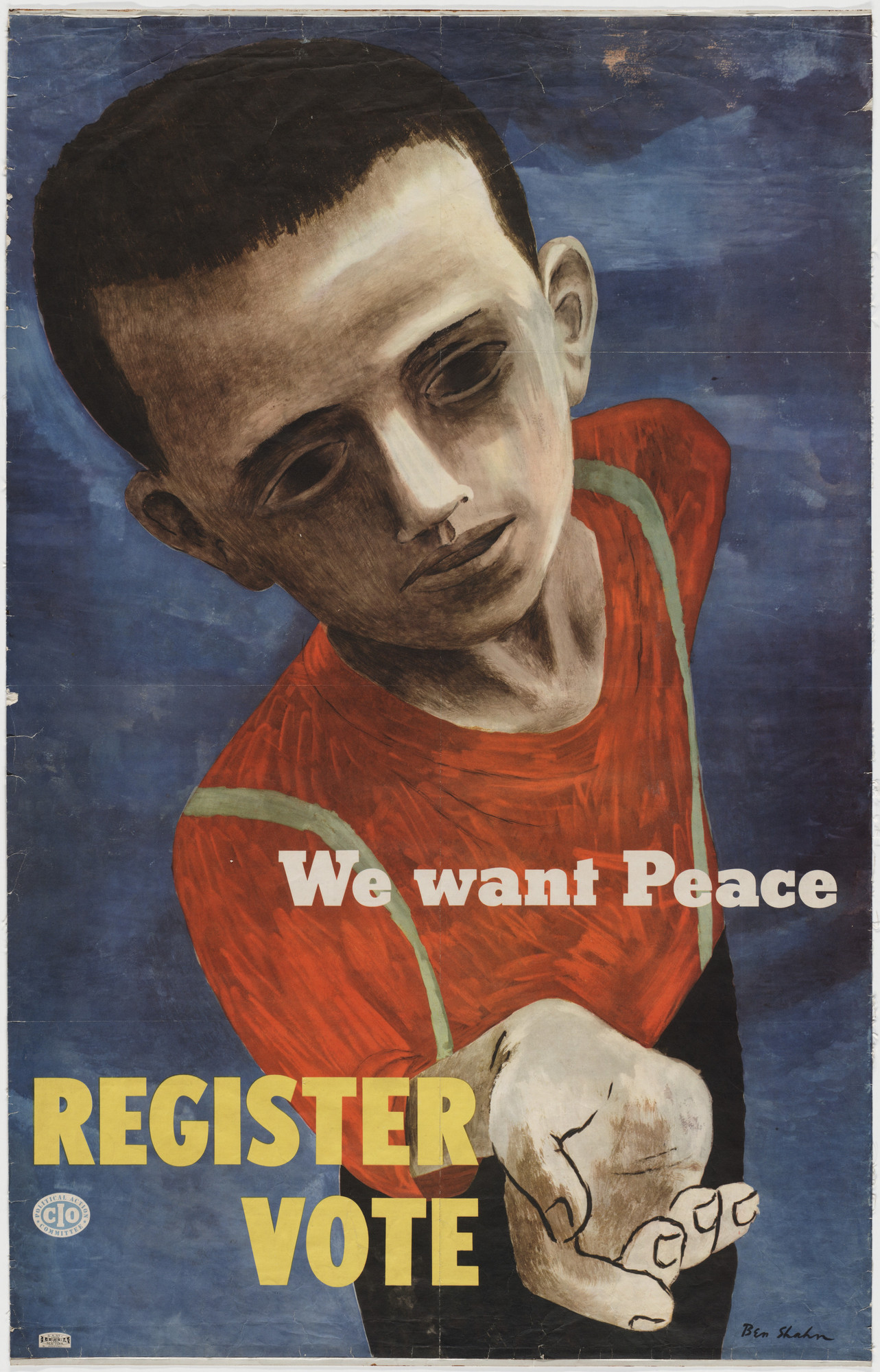Ben Shahn. We Want Peace, Register, Vote. 1946