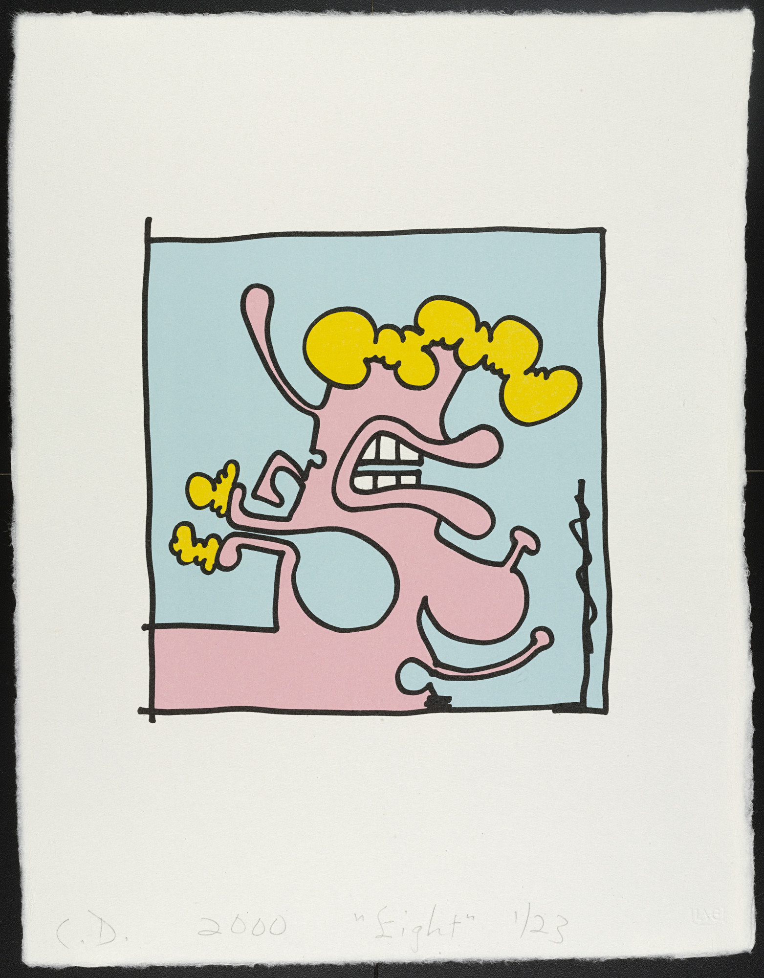 Carroll Dunham. Eight from Female Portraits. 2000