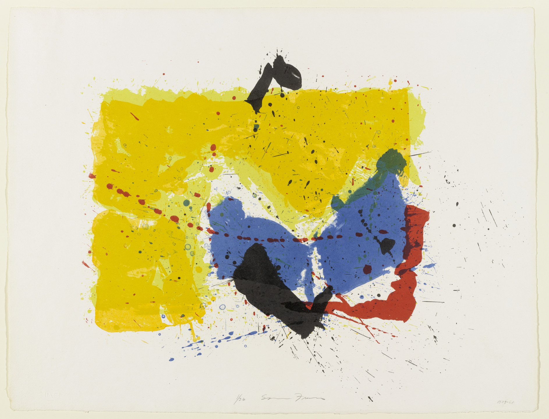 Sam Francis. Five Stone Untitled. 1959-68