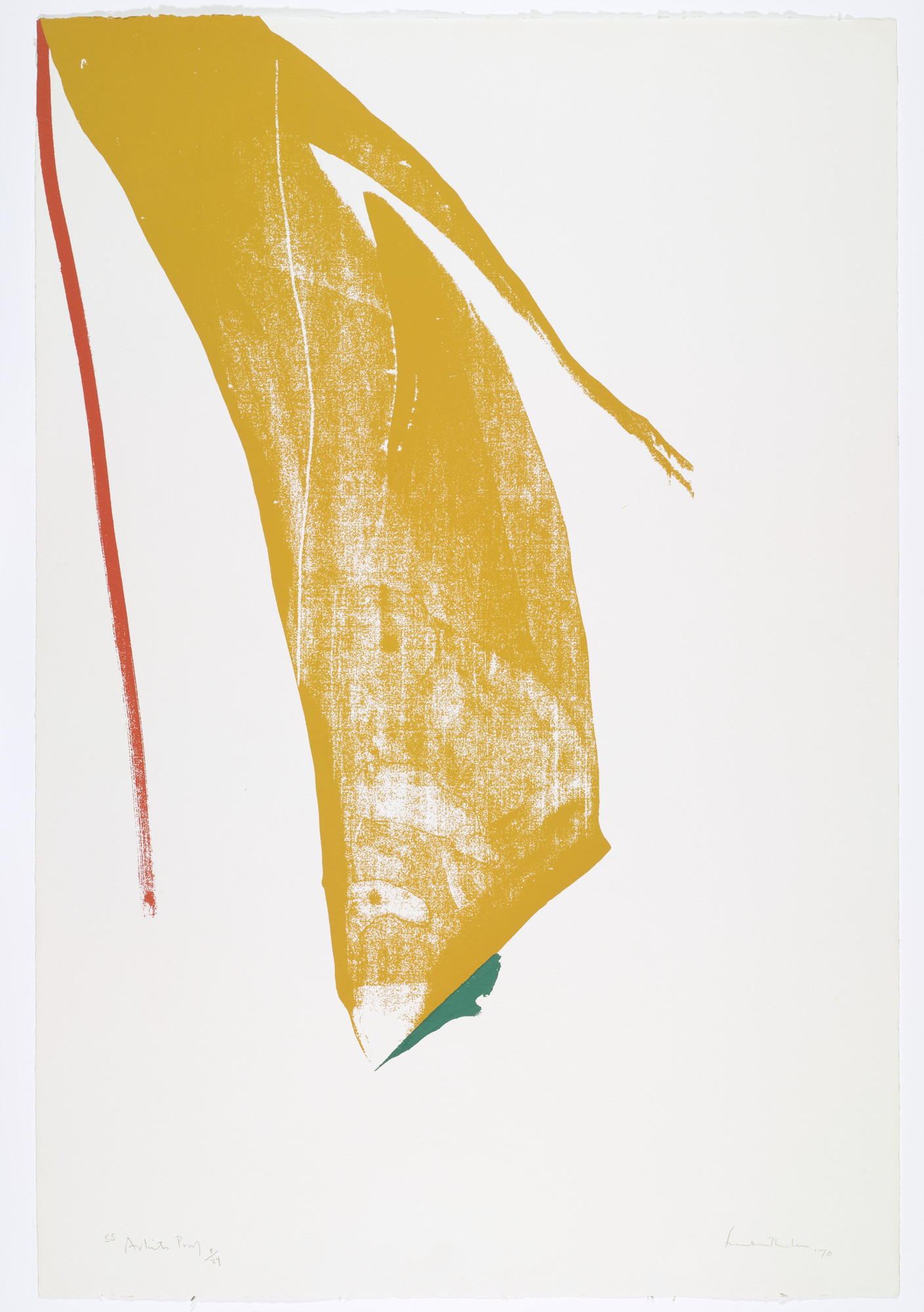 Helen Frankenthaler. Untitled from What Red Lines Can Do. 1970
