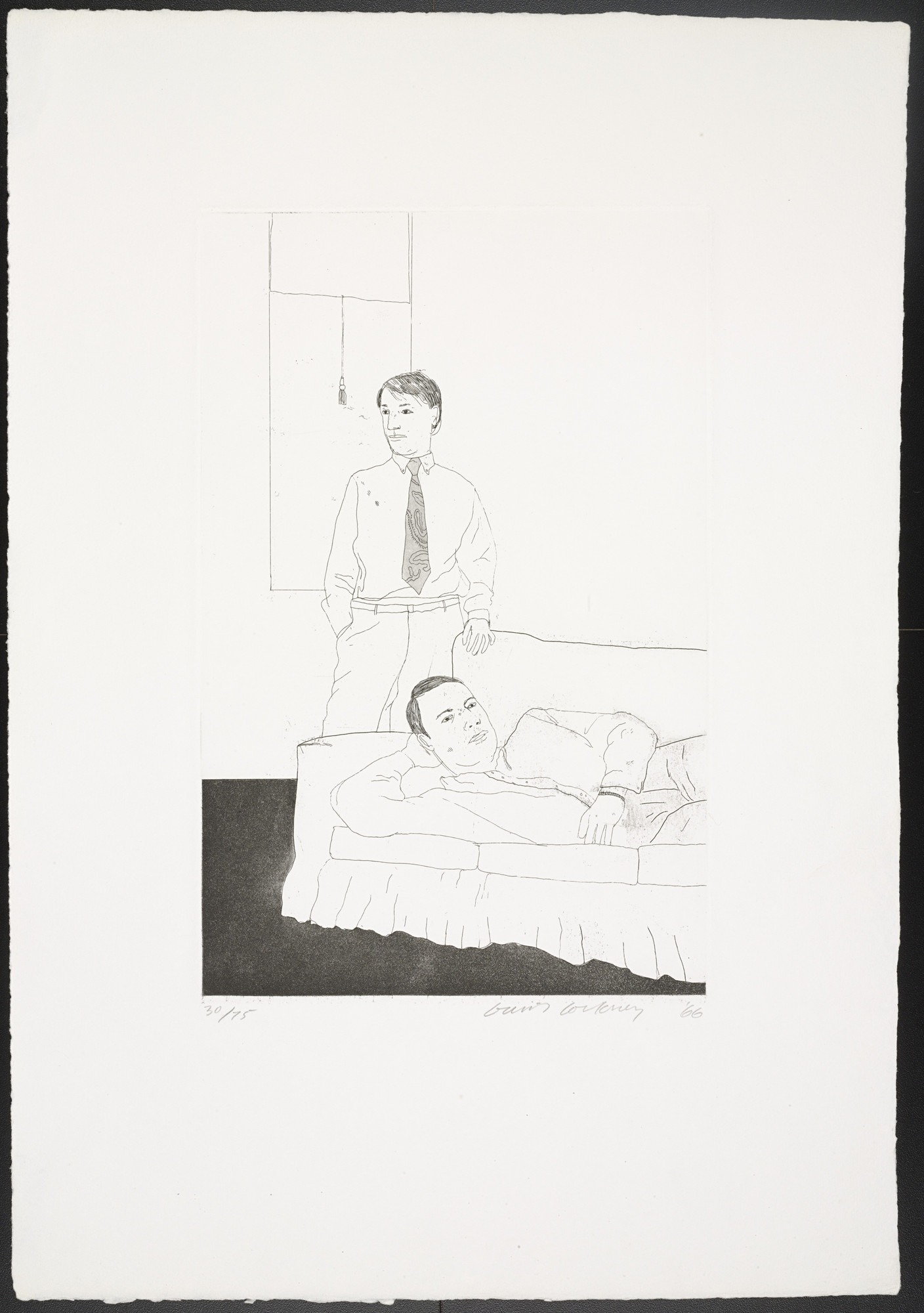 David Hockney. Beautiful and White Flowers from Fourteen Poems. 1966, published 1967