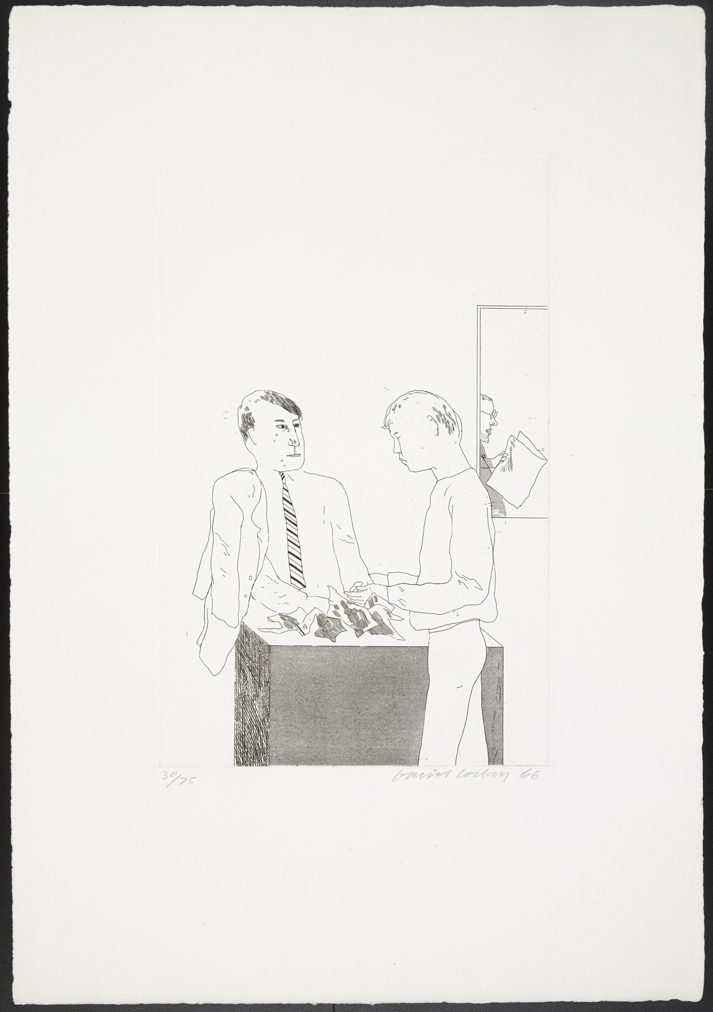 David Hockney. He Enquired After the Quality from Fourteen Poems. 1966, published 1967