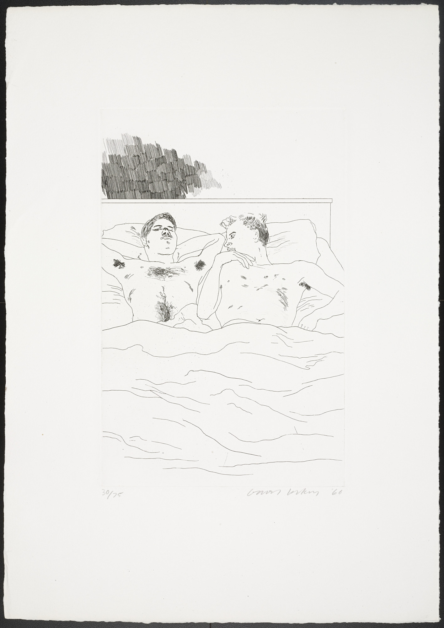 David Hockney. In the Dull Village from Fourteen Poems. 1966, published 1967
