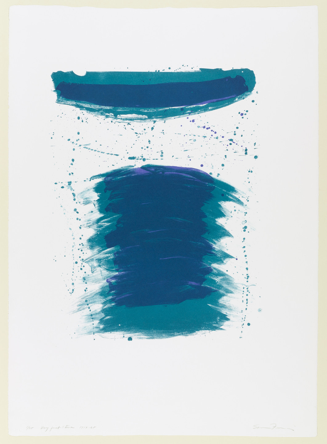 Sam Francis. Very First Stone. 1959-68