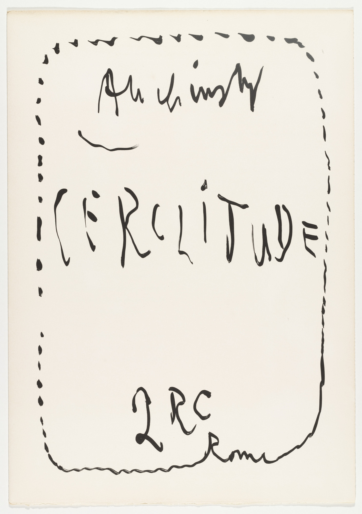 Pierre Alechinsky. Cerclitude. 1973 (Published 1974)