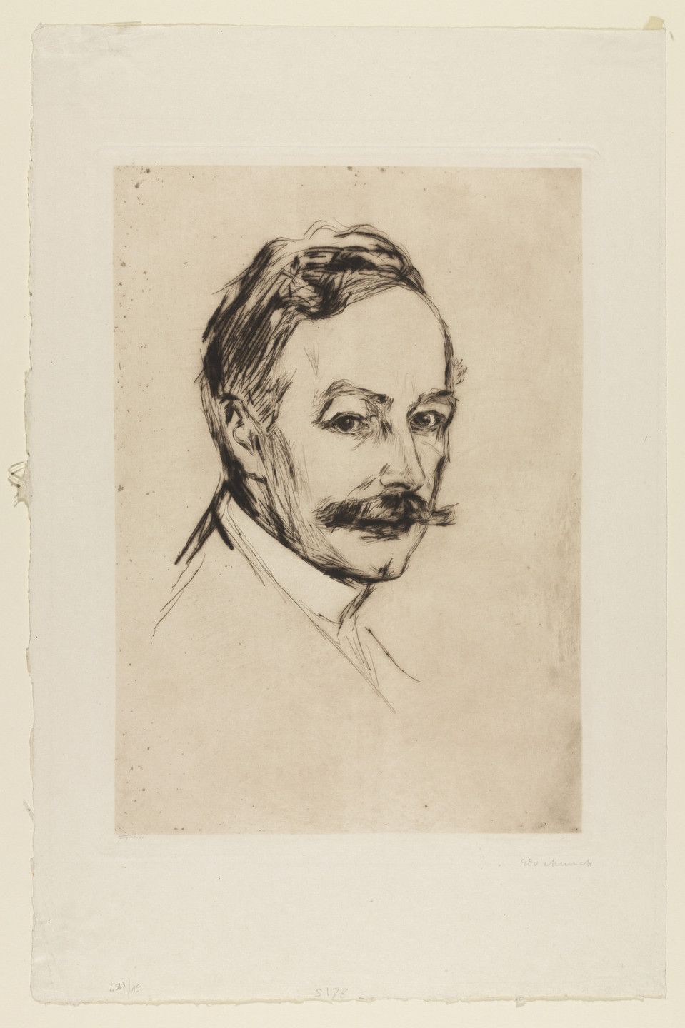 Edvard Munch. Portrait of Dr. Max Linde. 1902