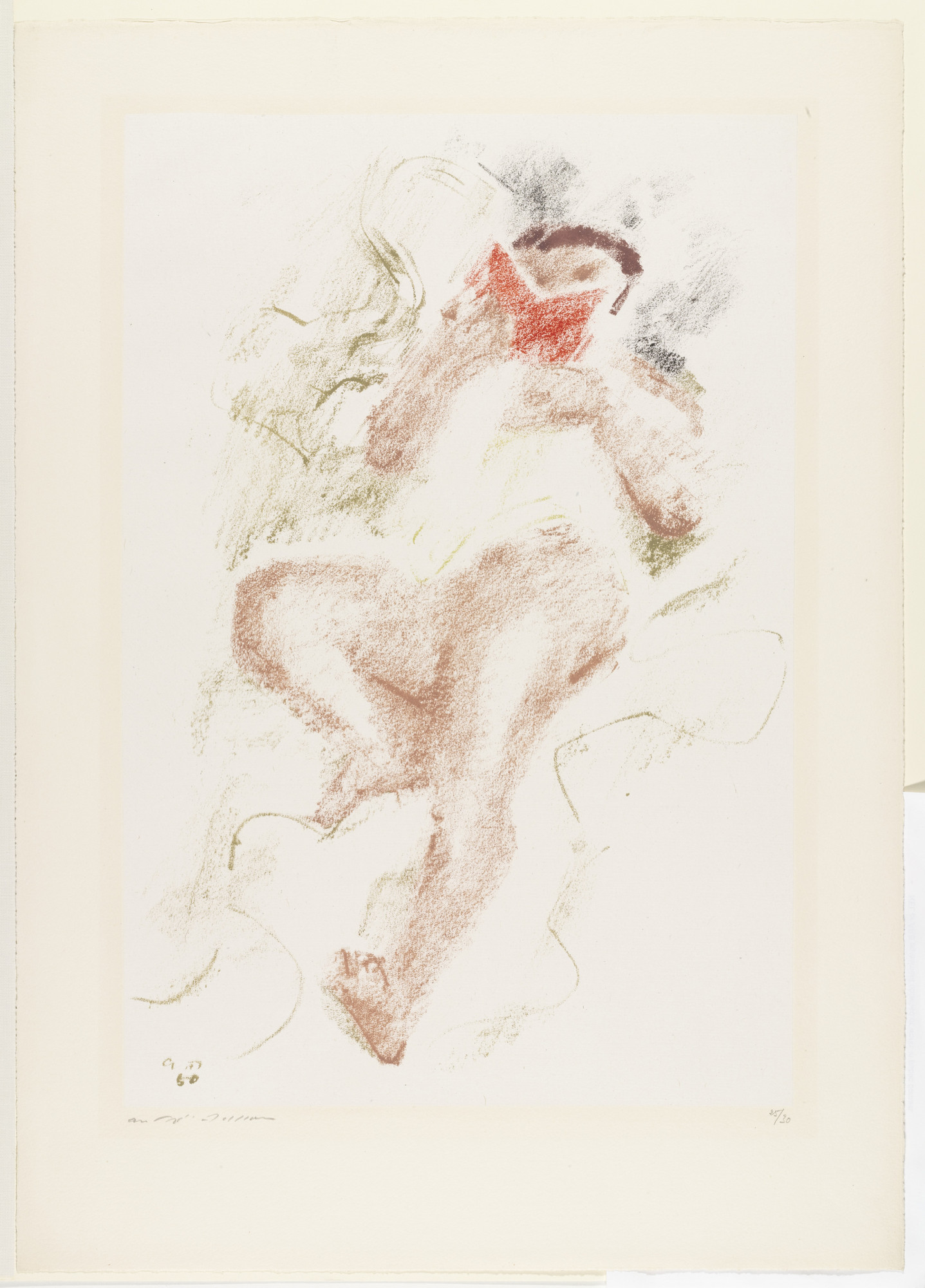 André Masson. Reader with Red Book. 1950