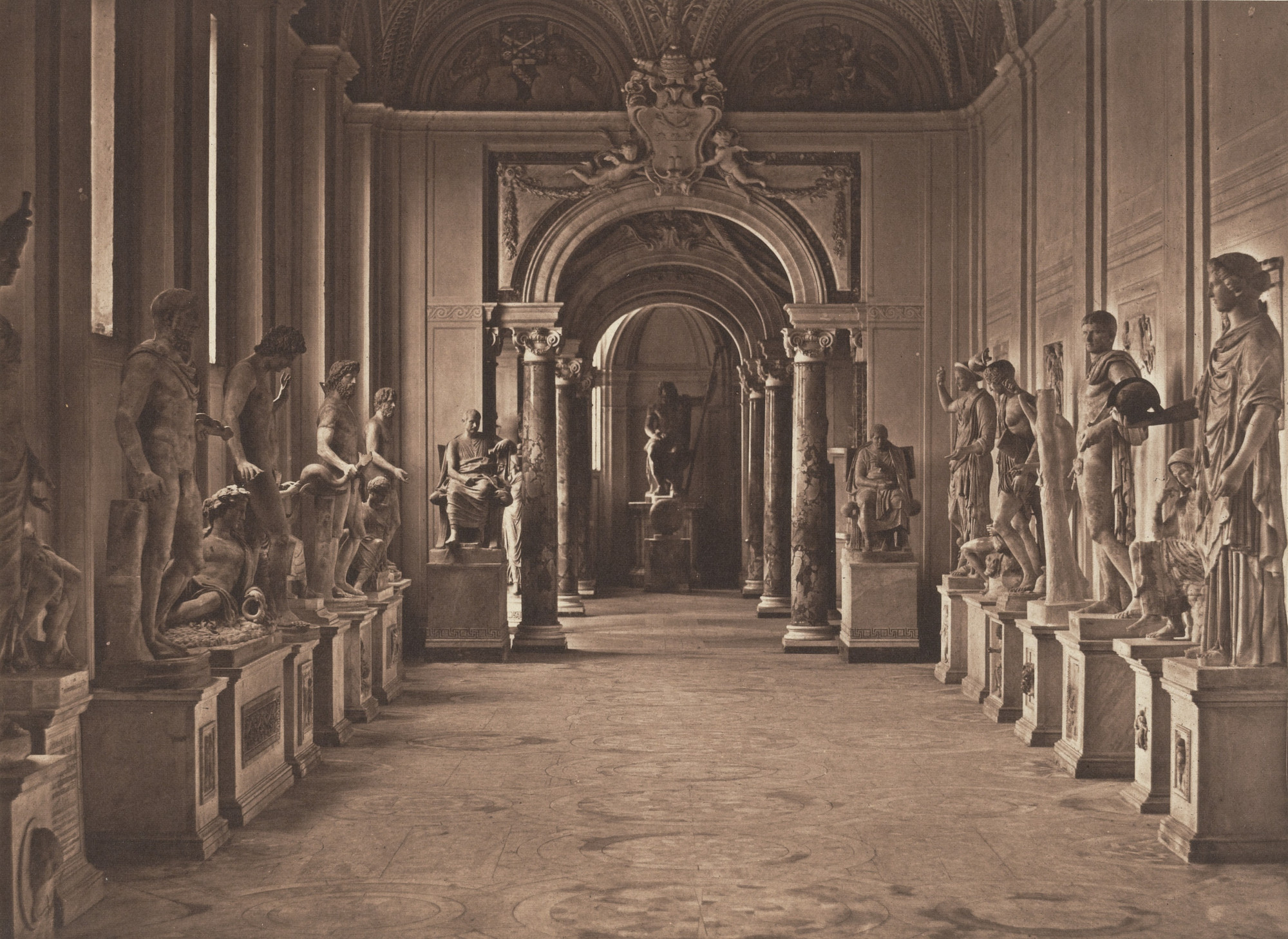 James Anderson. Gallery in the Vatican. c. 1853