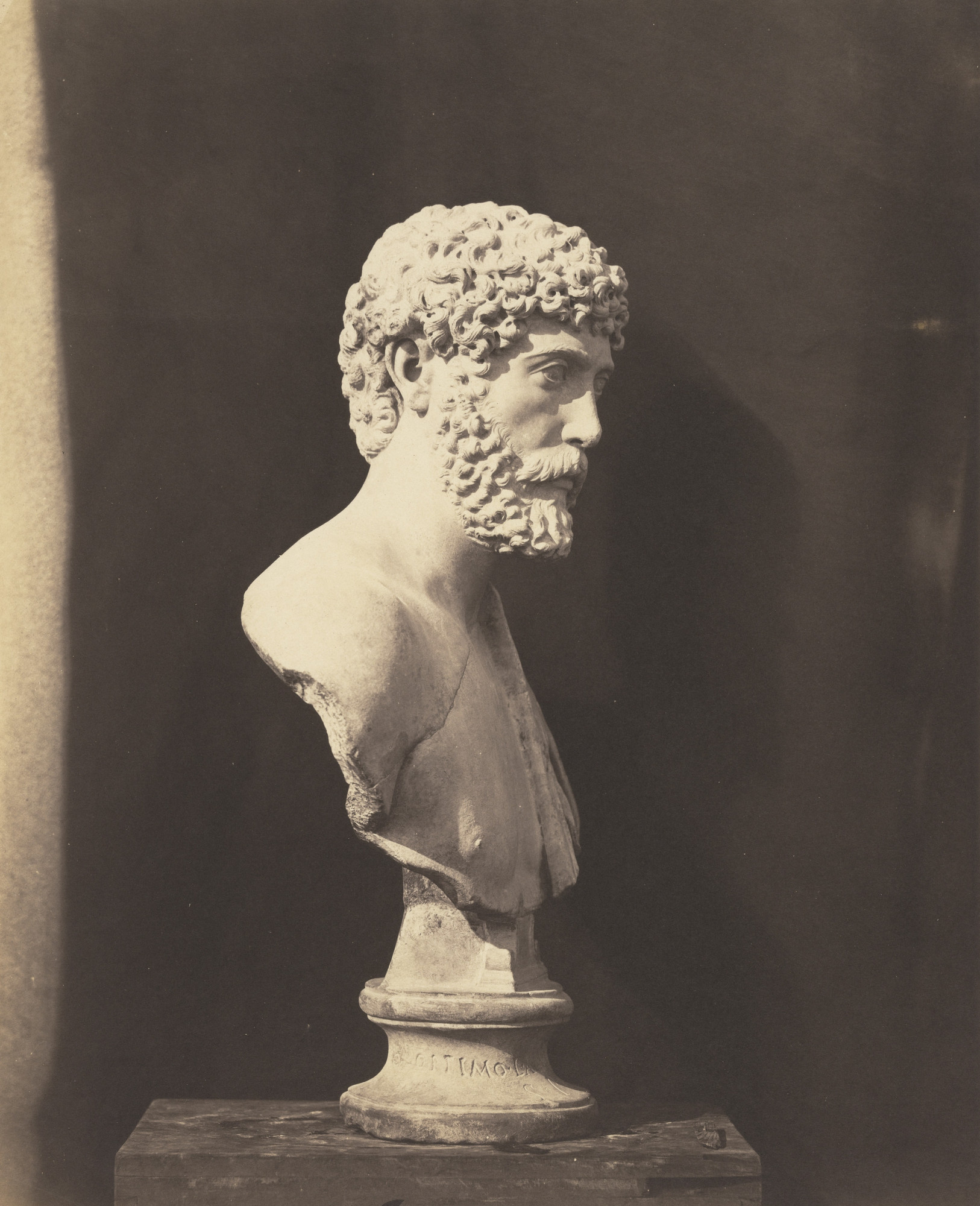 Roger Fenton. Roman Portrait Bust, British Museum, London. c. 1857