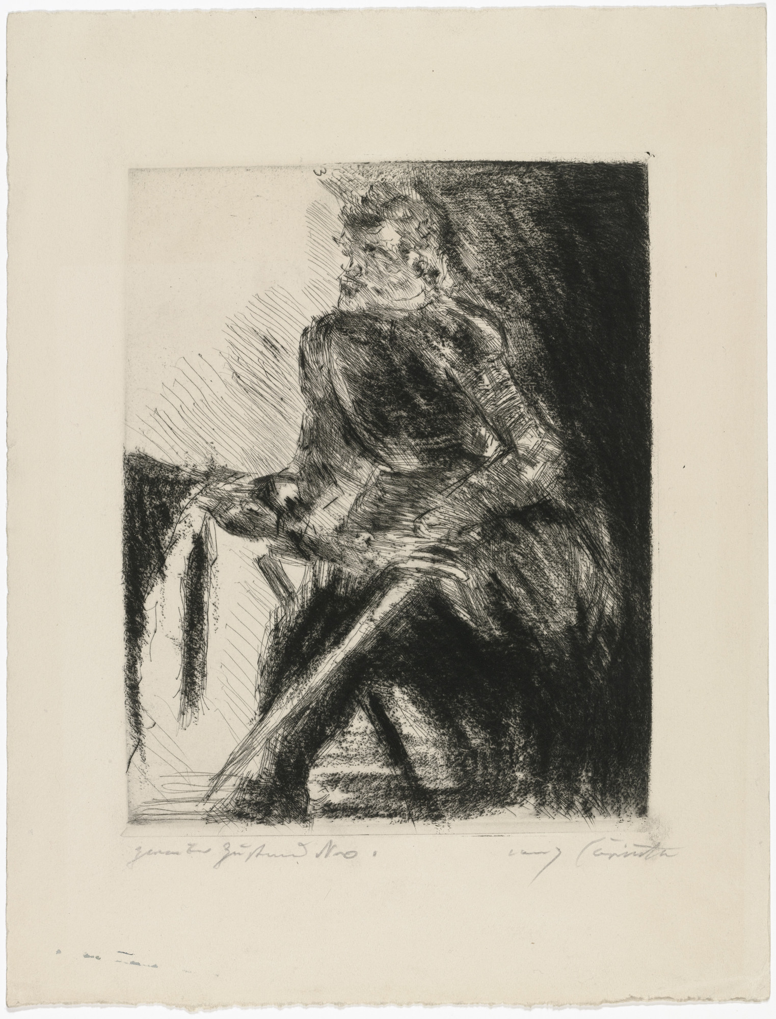 Lovis Corinth. Rudolf Rittner as Florian Geyer (Rudolf Rittner als Florian Geyer) for the portfolio Compositions (Kompositionen). (1921-22)